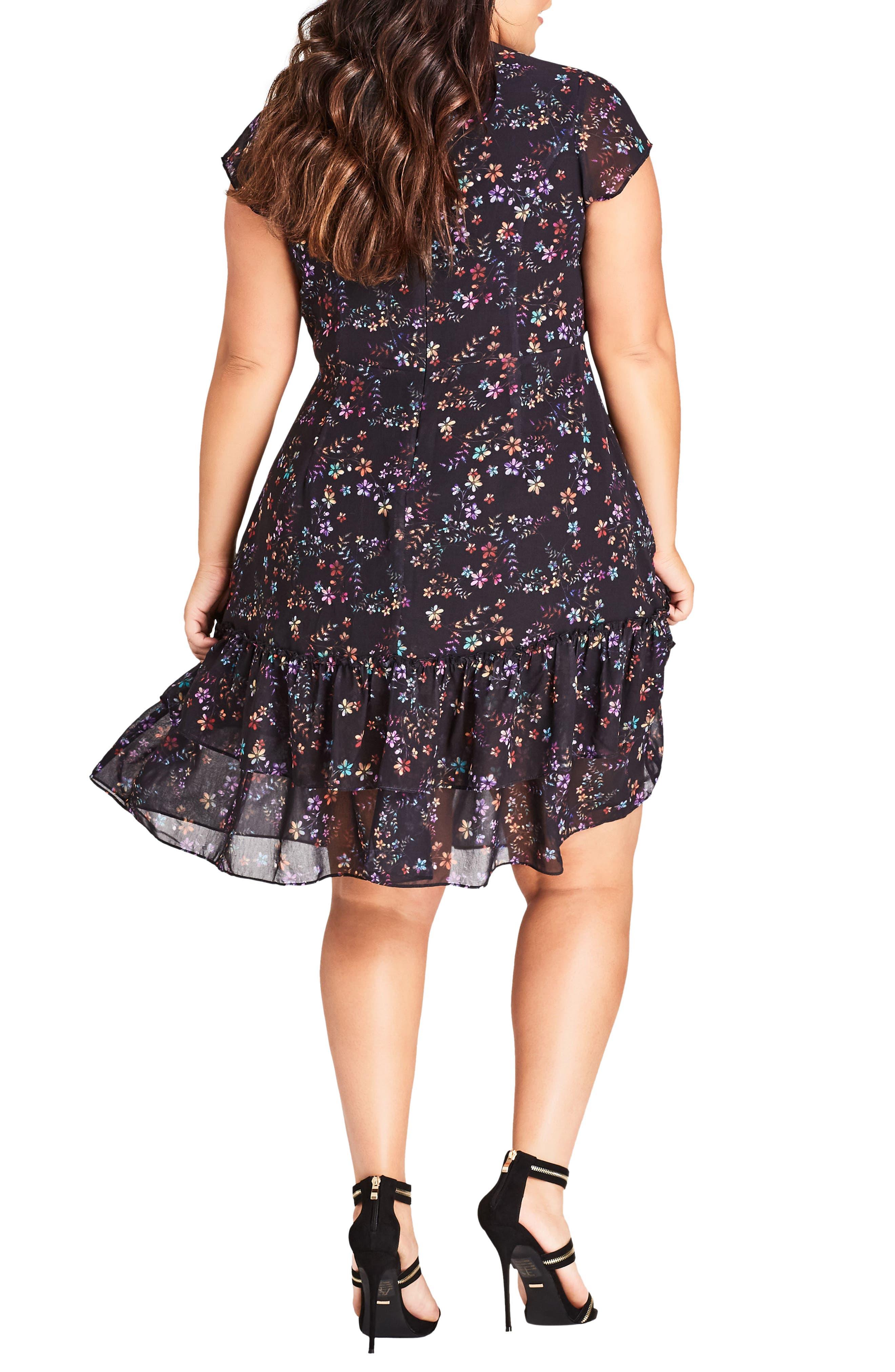 Dreamy Floral Fit & Flare Dress,                             Alternate thumbnail 2, color,                             Dreamy Floral