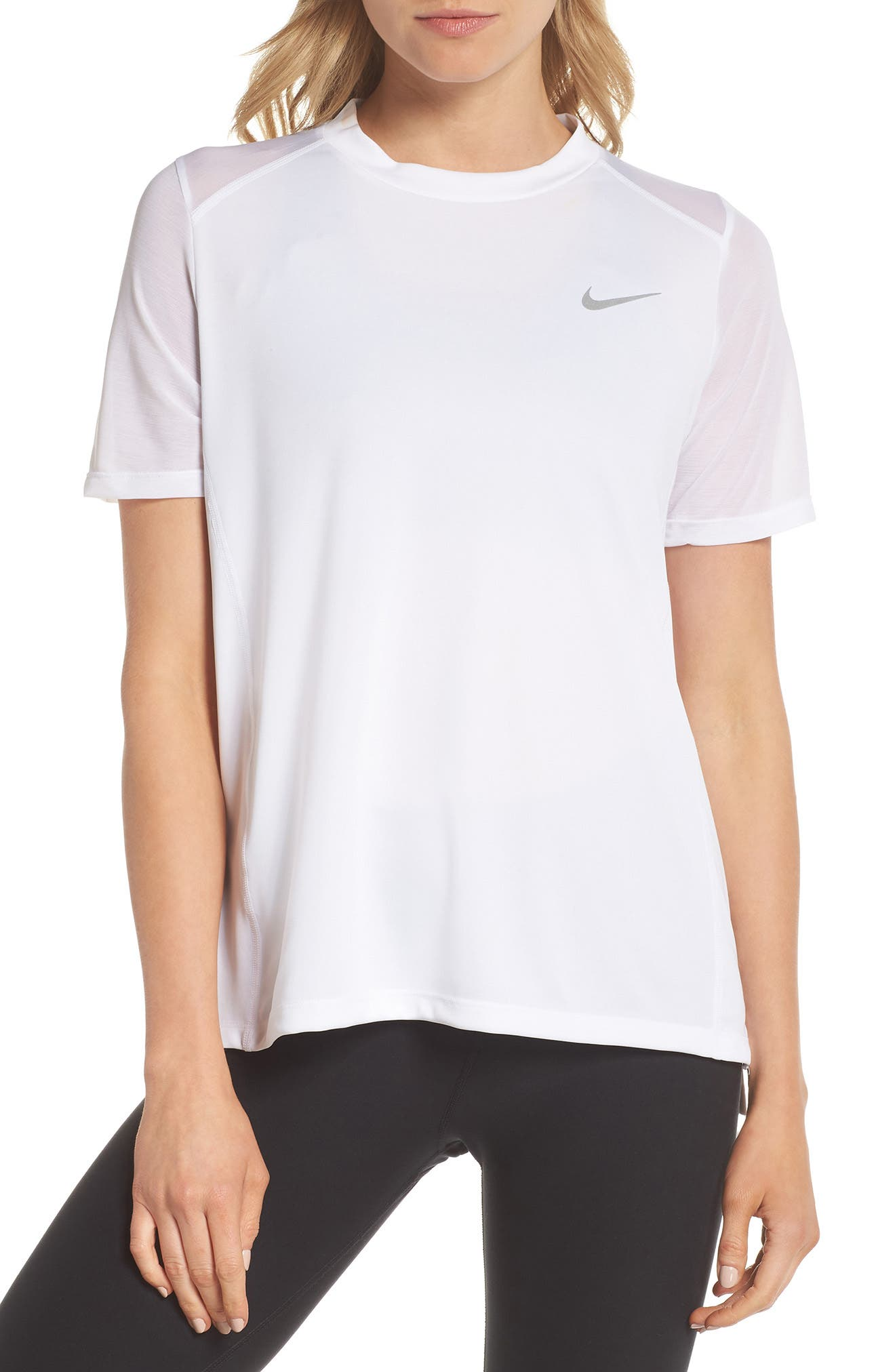 Dry Miler Tee,                         Main,                         color, White