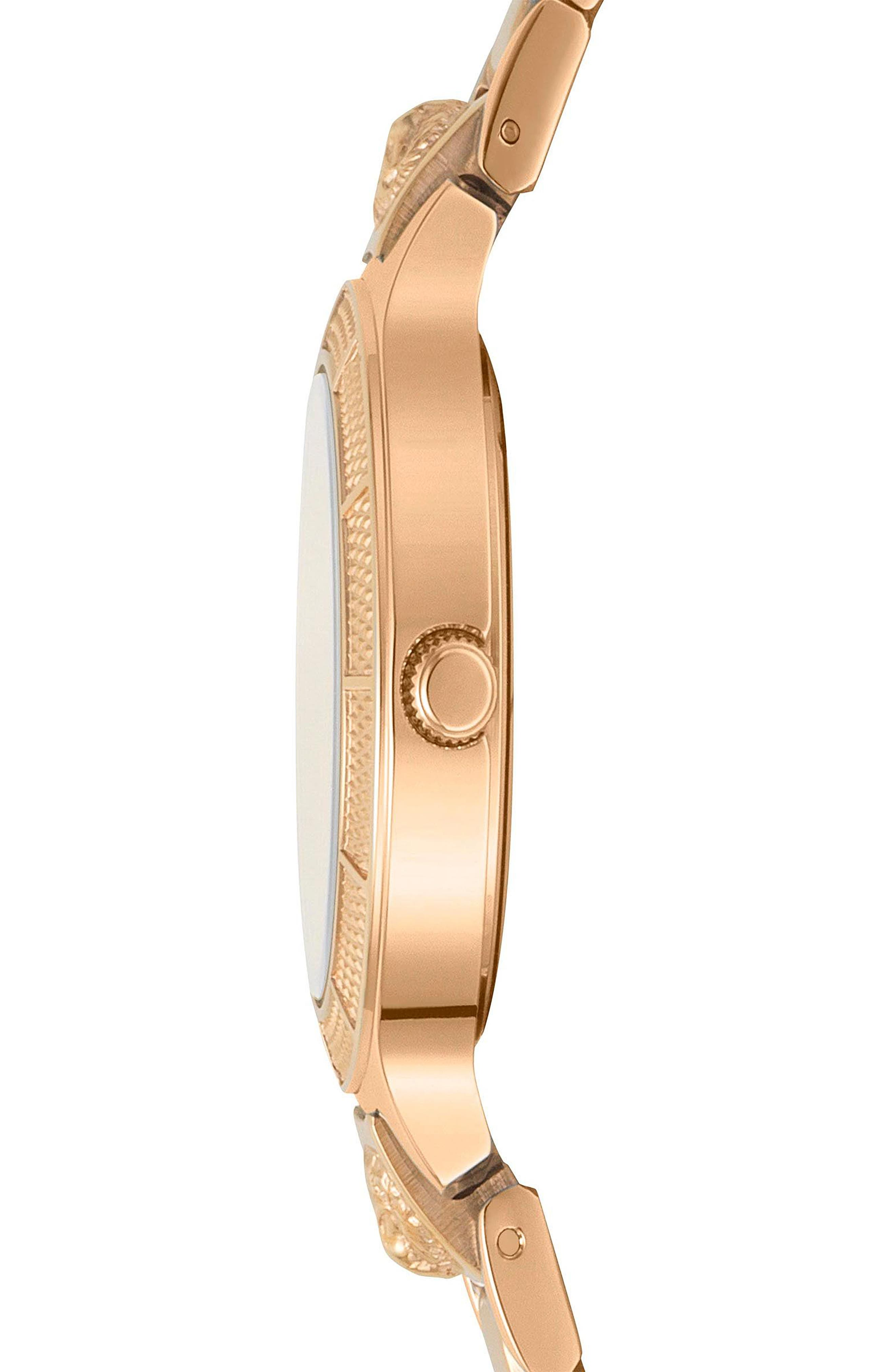 VERSUS by Versace Claremont Bracelet Watch, 32mm,                             Alternate thumbnail 2, color,                             Rose Gold/ Green/ Rose Gold