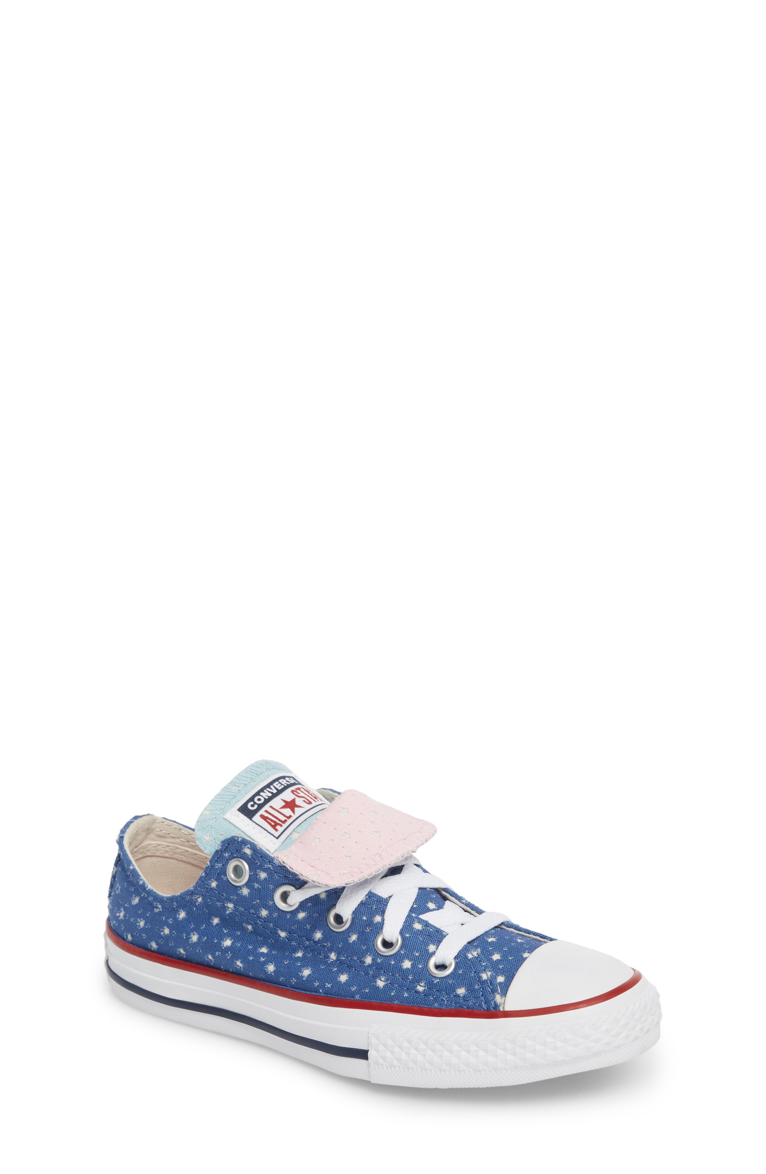 Chuck Taylor<sup>®</sup> All Star<sup>®</sup> Double Tongue Sneaker,                             Main thumbnail 1, color,                             Nightfall Blue