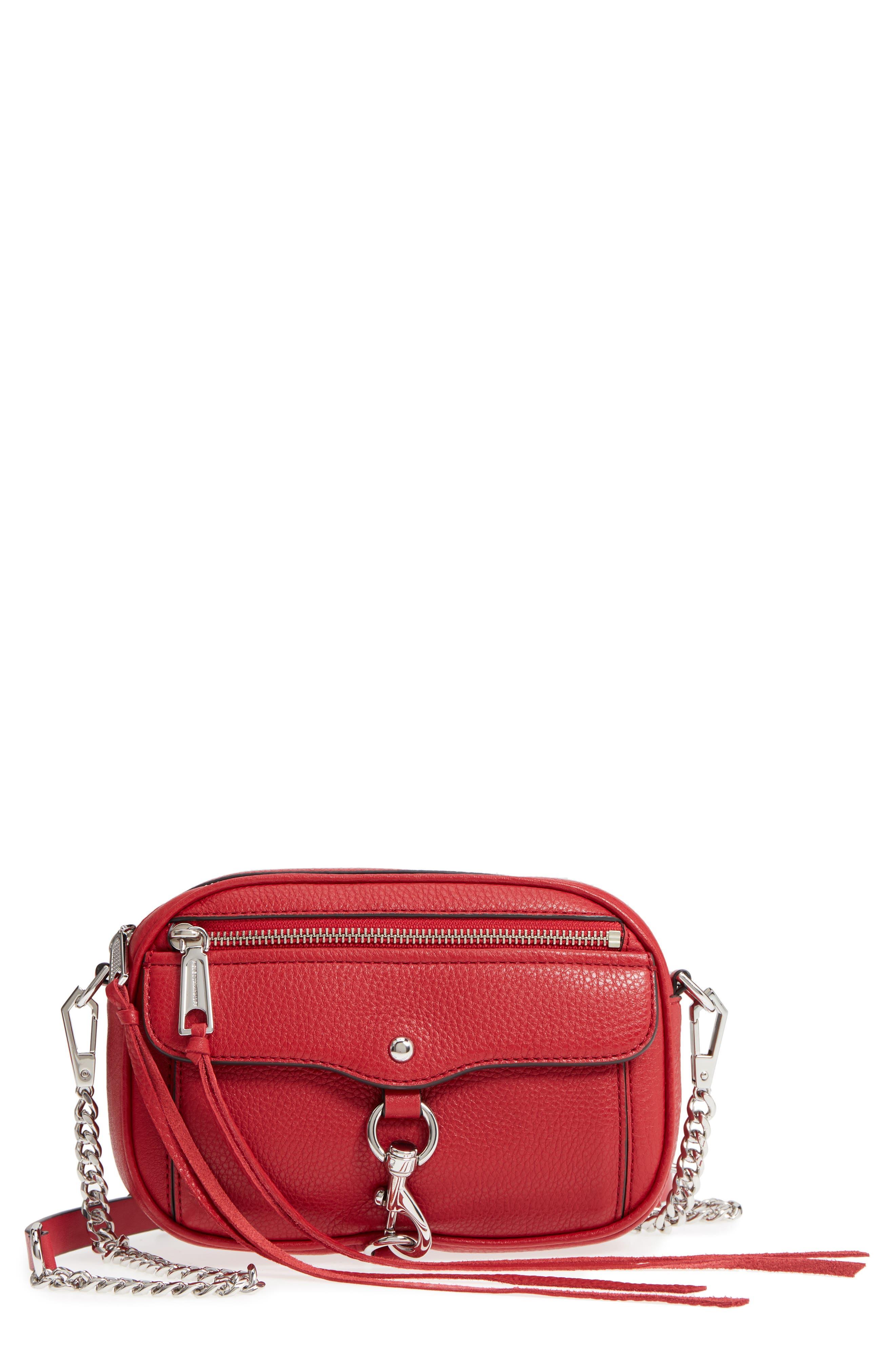 Blythe Leather Crossbody Bag,                             Main thumbnail 1, color,                             Scarlet