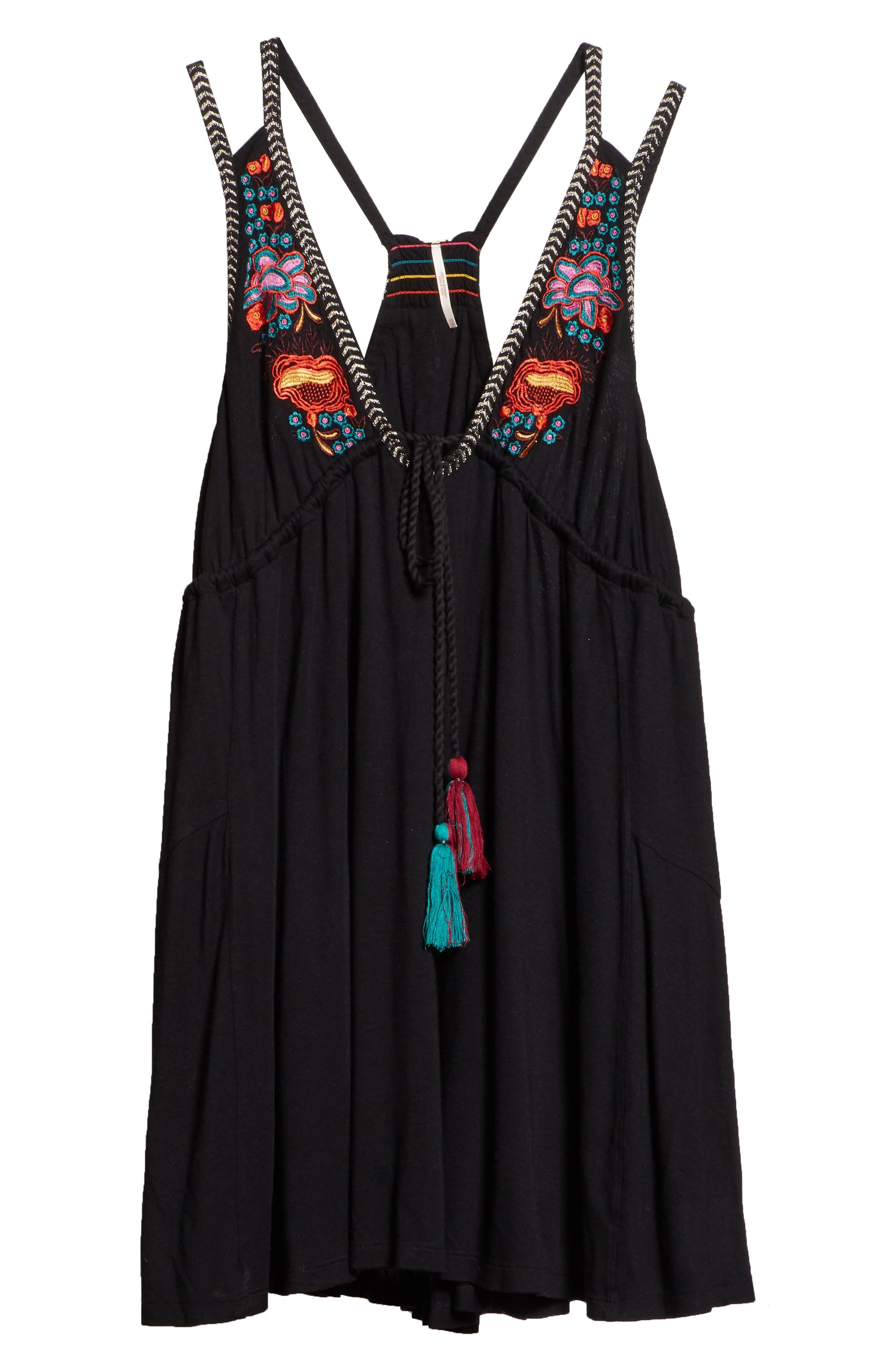 Lovers Cove Minidress,                             Alternate thumbnail 7, color,                             Black