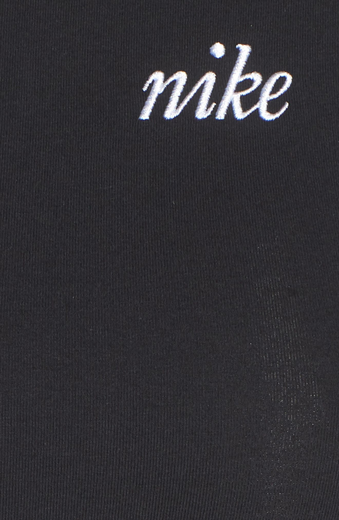 Sportswear T-Shirt Dress,                             Alternate thumbnail 6, color,                             Black/ White