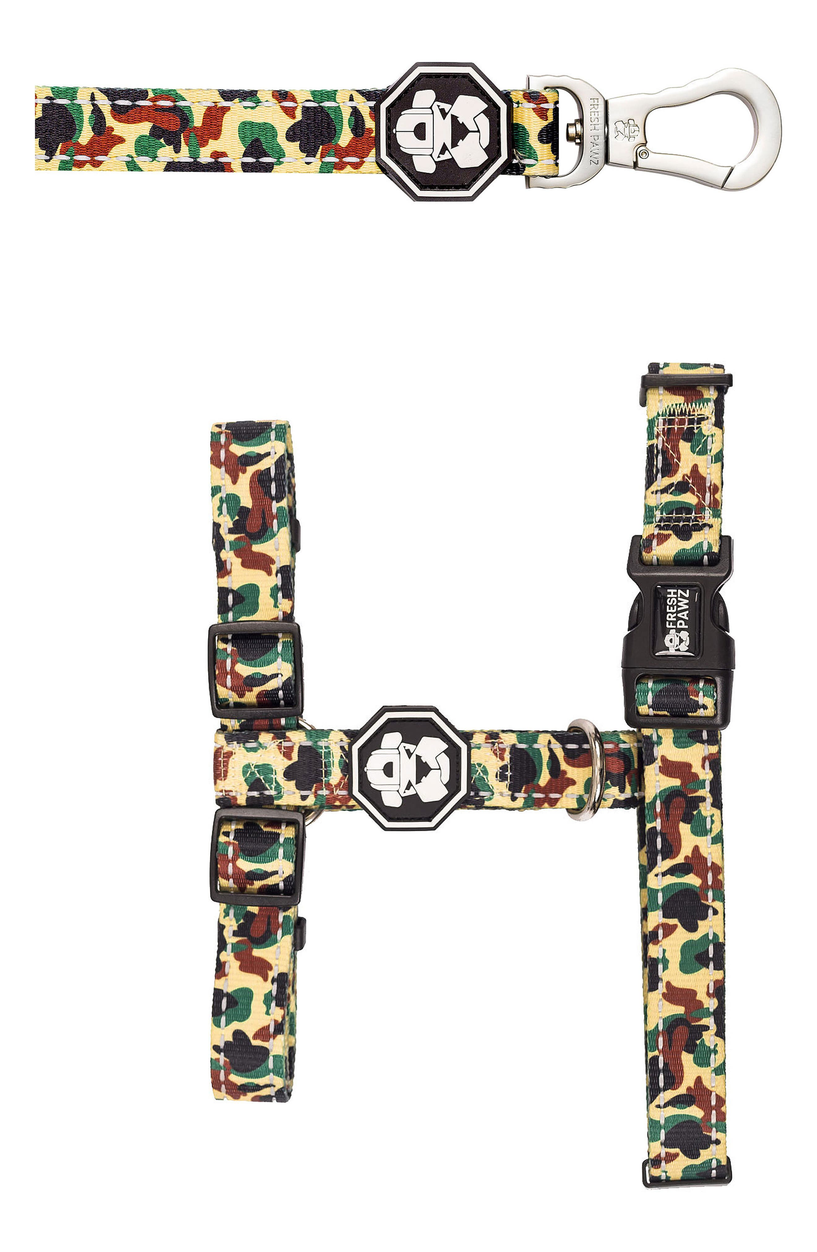 H-Harness and Leash,                         Main,                         color, Hype Camo