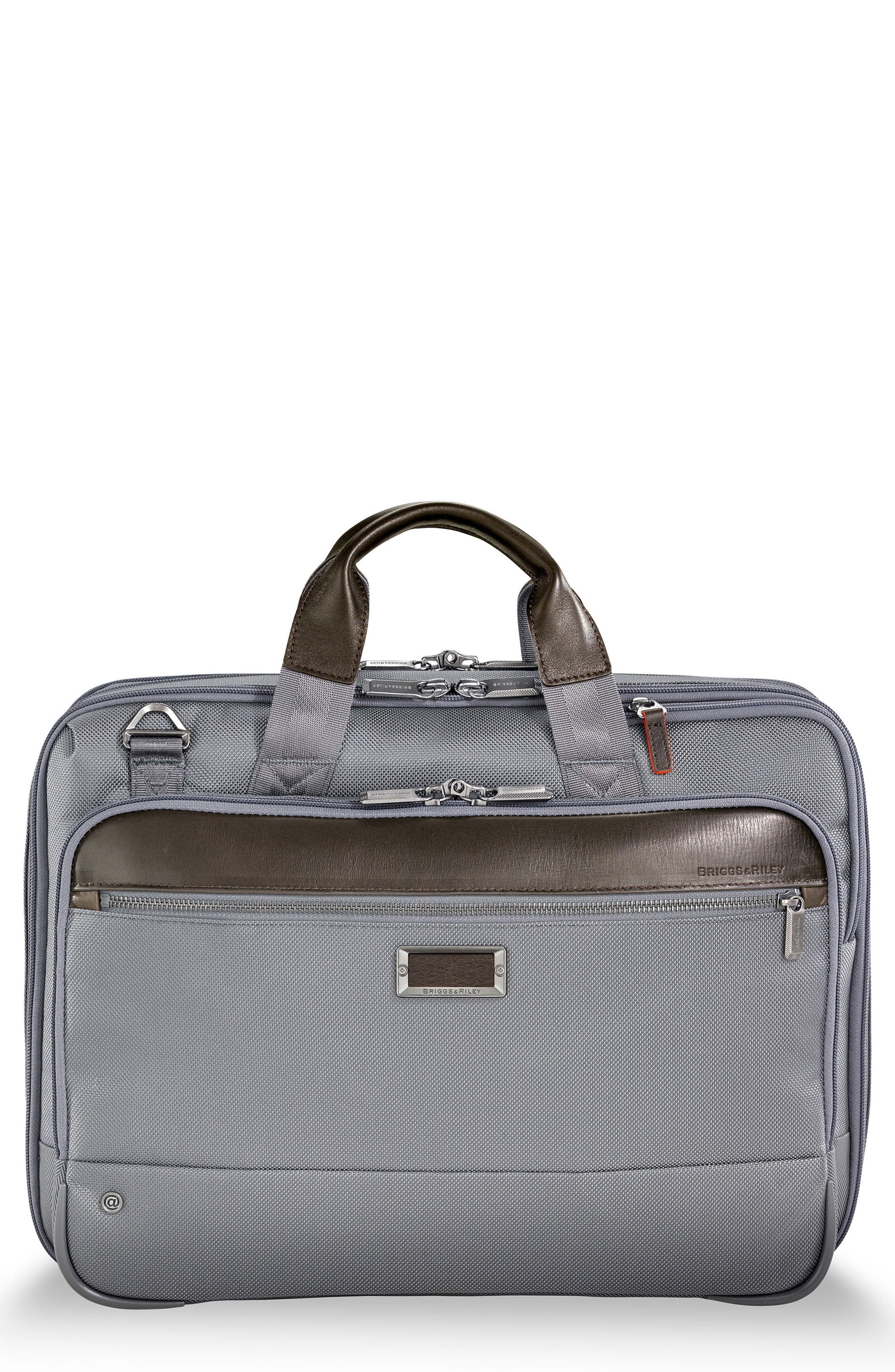 @work Expandable Briefcase,                         Main,                         color, Grey