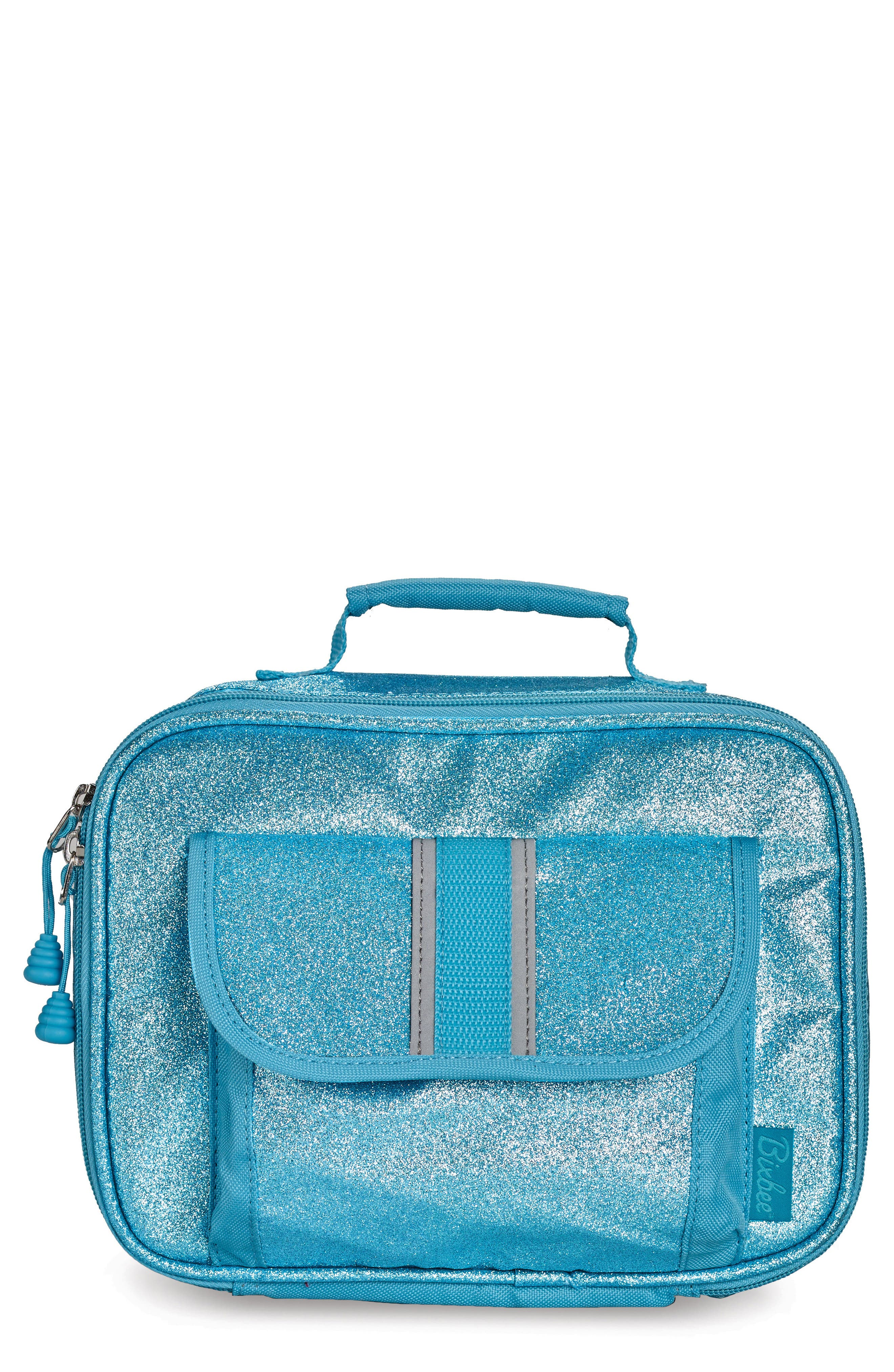 Sparkalicious Water Resistant Lunch Box,                         Main,                         color, Turquoise