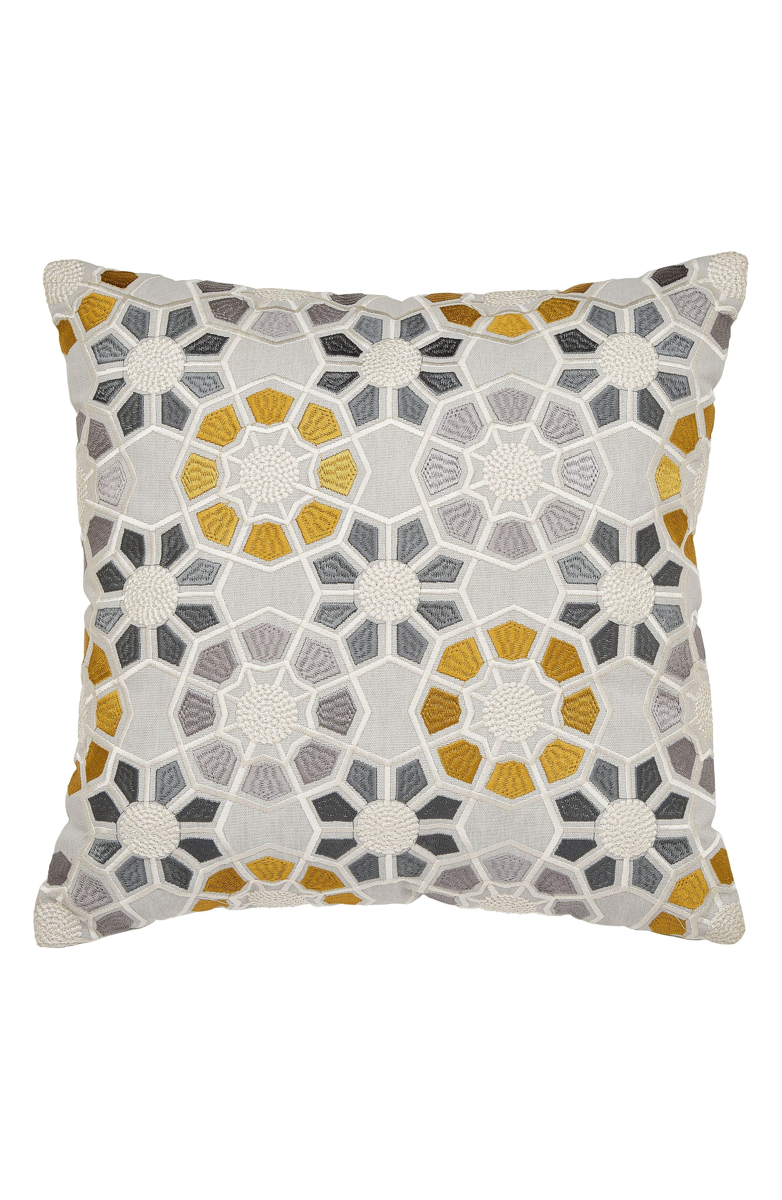 Ziba Duvet Cover, Sham & Accent Pillow Set,                             Alternate thumbnail 3, color,                             Grey