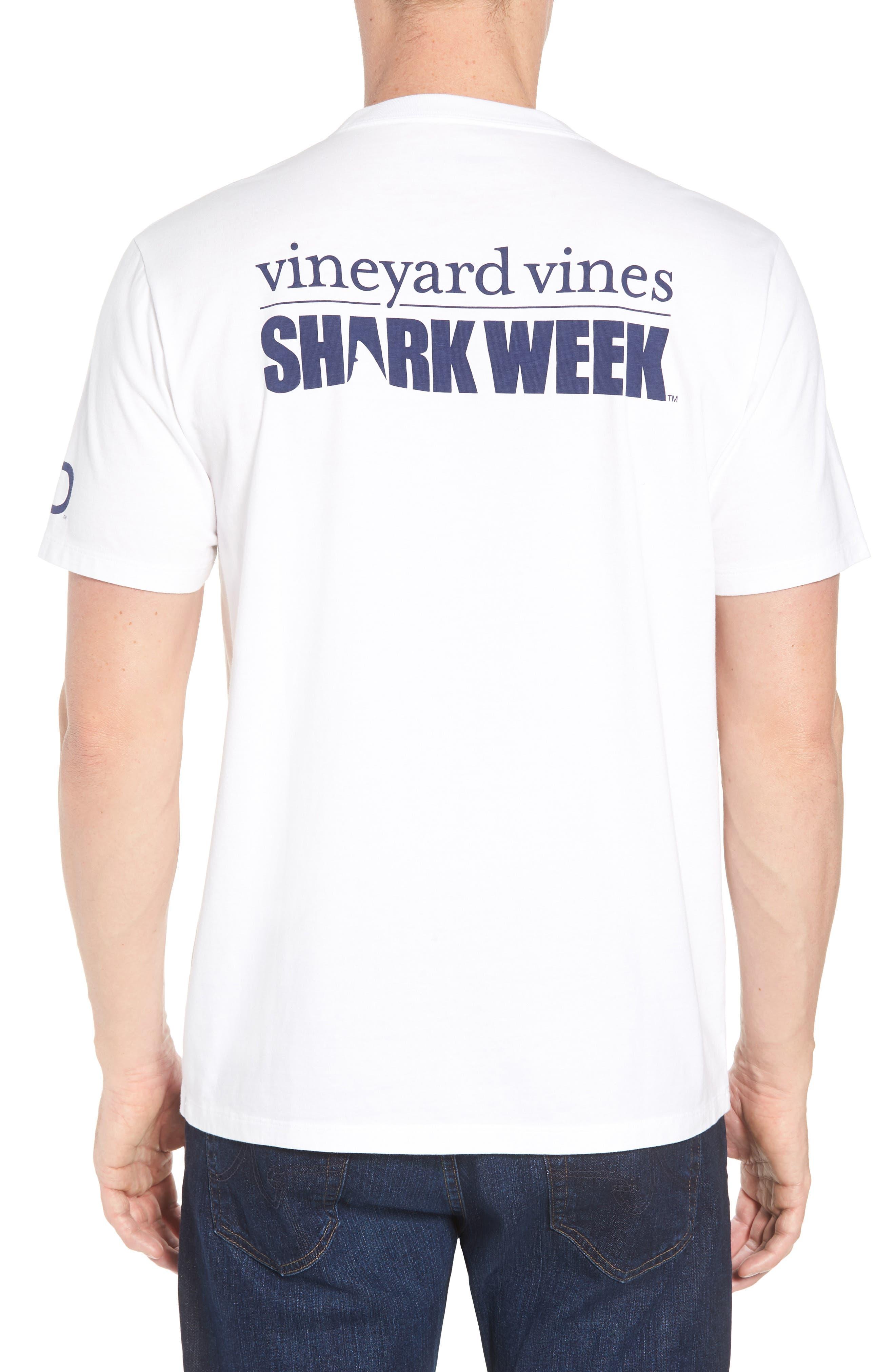 x Shark Week<sup>™</sup> Logo Pocket T-Shirt,                             Alternate thumbnail 2, color,                             White Cap
