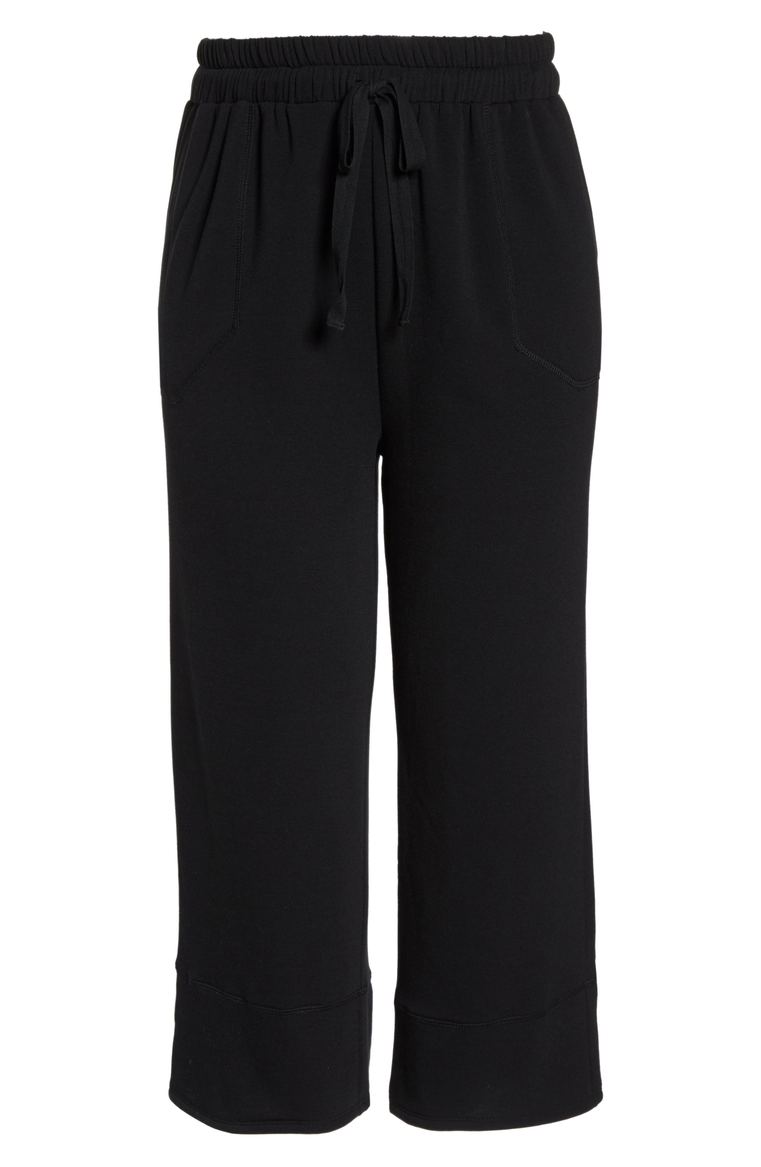 Off Duty Easy Drawstring Pants,                             Alternate thumbnail 7, color,                             Black