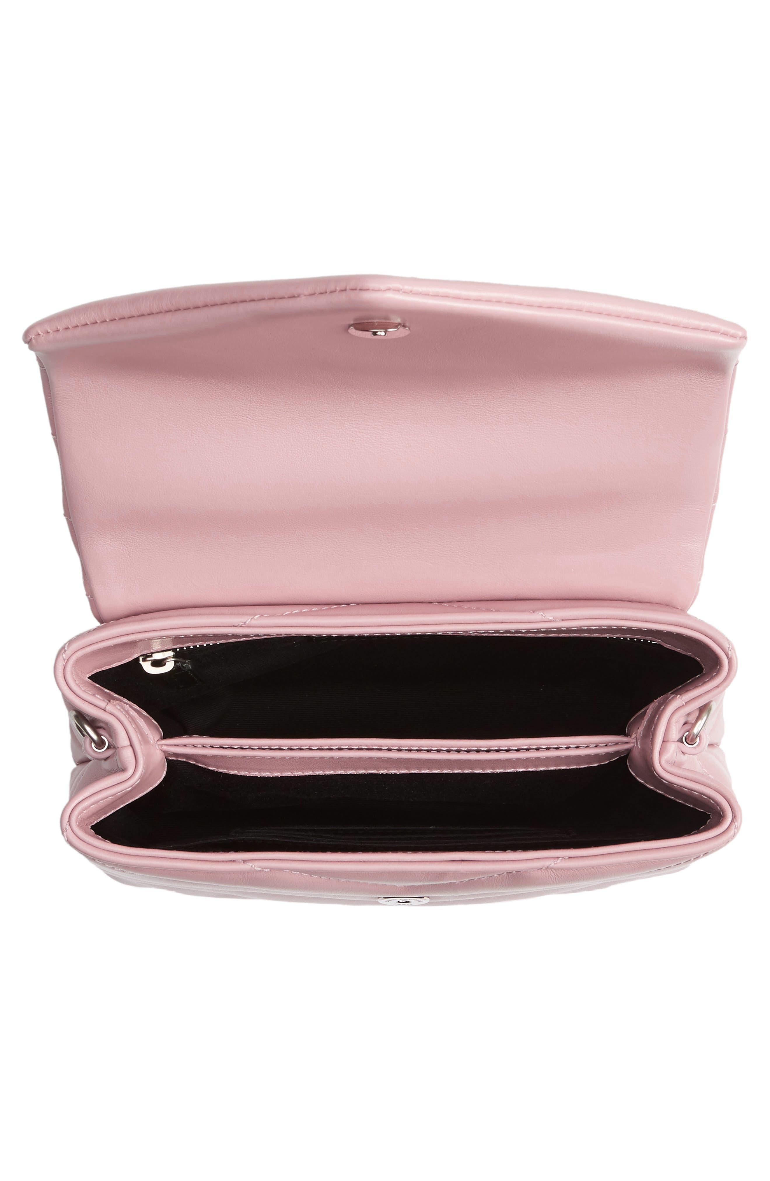 Toy LouLou Calfskin Leather Crossbody Bag,                             Alternate thumbnail 4, color,                             Tender Pink