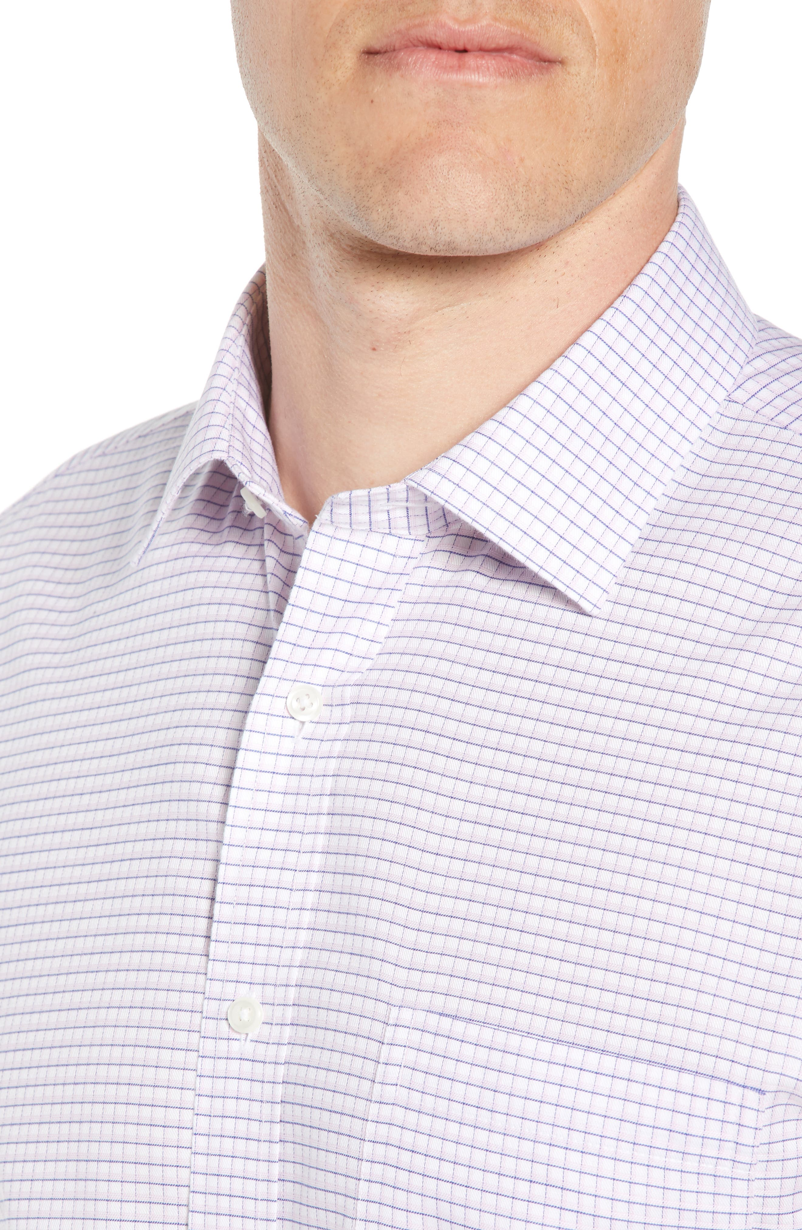 Smartcare<sup>™</sup> Trim Fit Check Sport Shirt,                             Alternate thumbnail 2, color,                             Pink Sweet