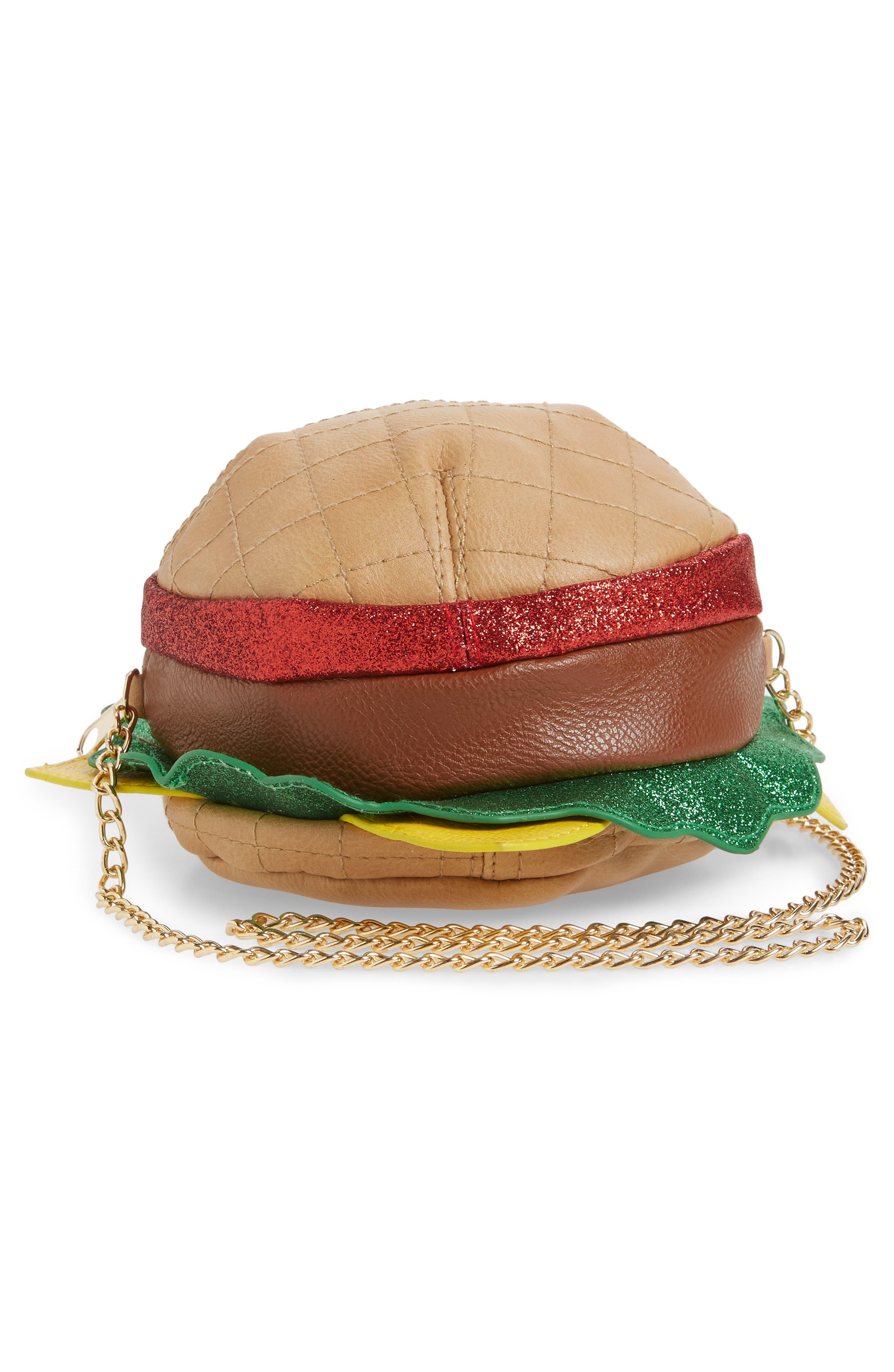Hamburger Crossbody Bag,                             Alternate thumbnail 3, color,                             Multi Combo