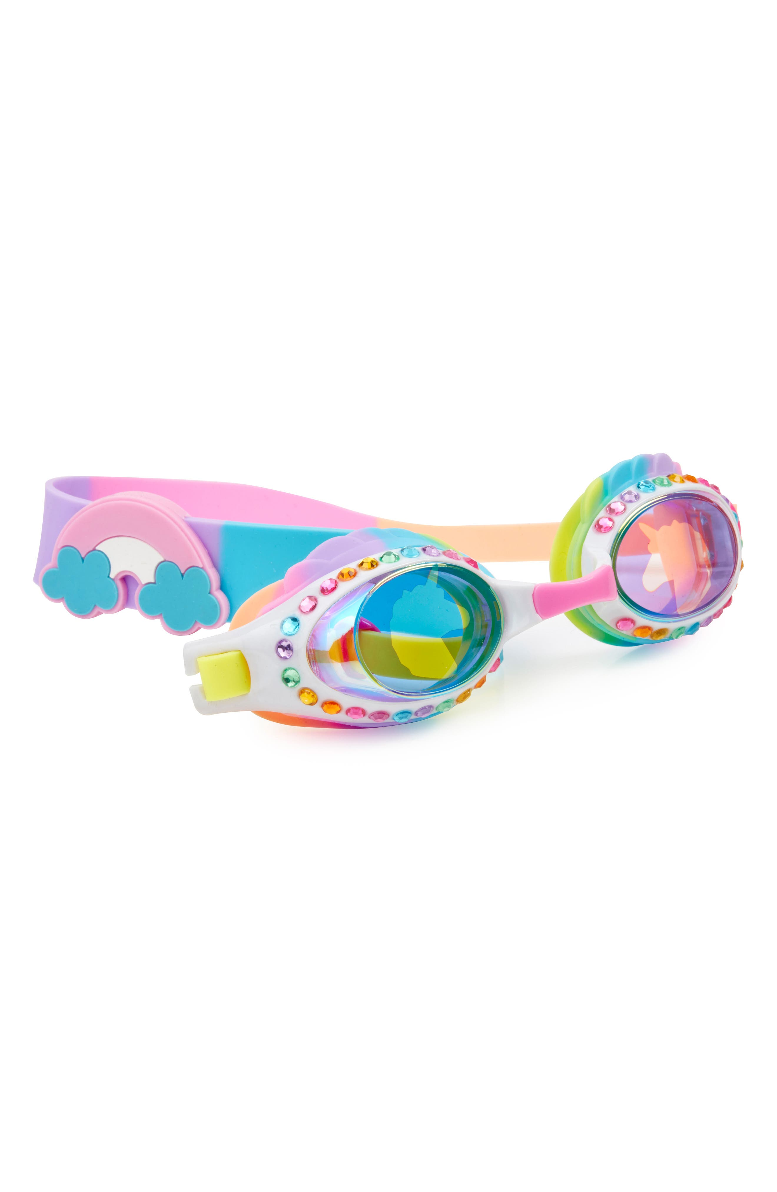 Eunice the Unicorn Swim Goggles,                             Main thumbnail 1, color,                             Multi Blue