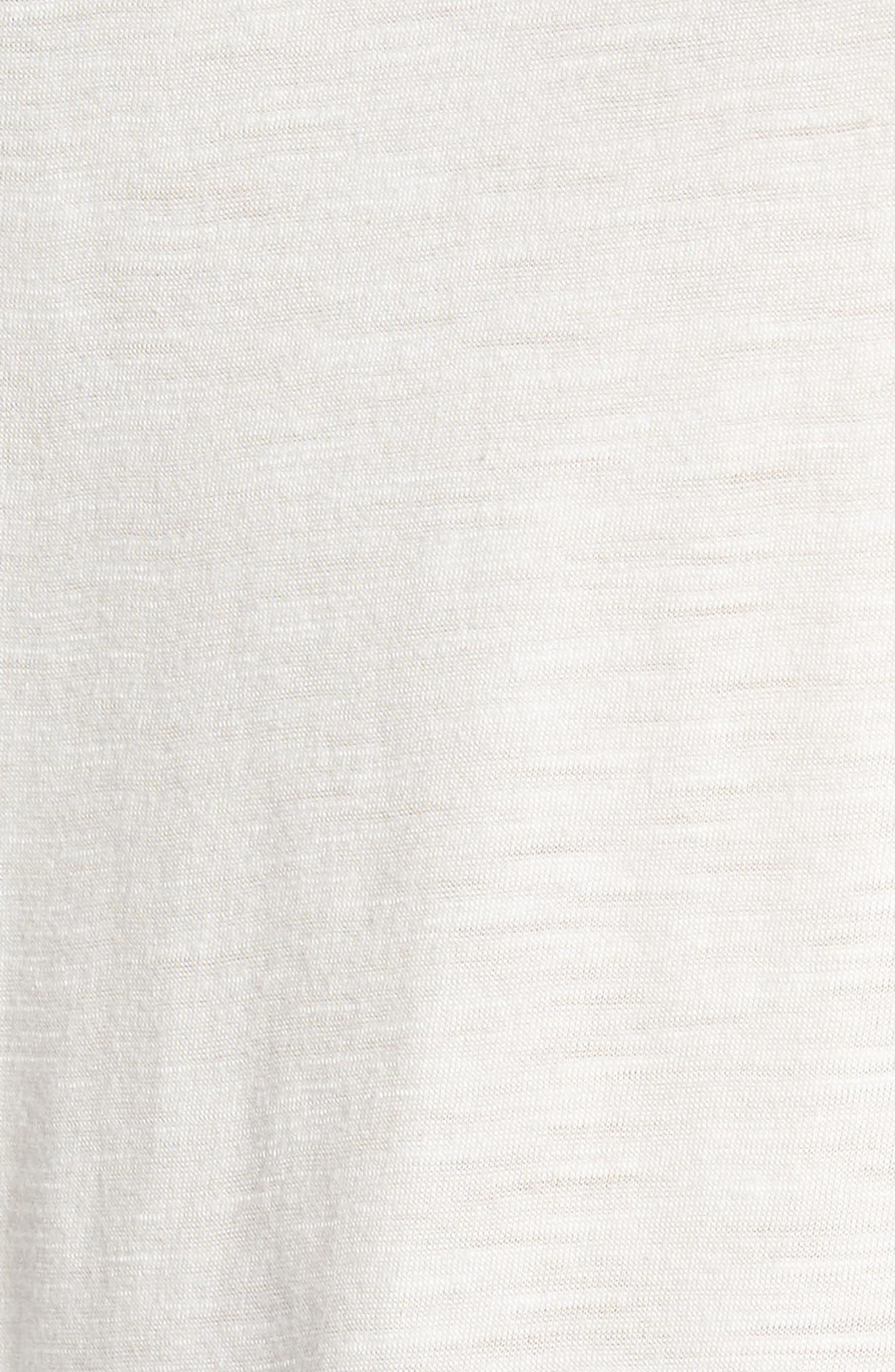 Sleeveless Tulle Trim Tank Top,                             Alternate thumbnail 6, color,                             Ivory