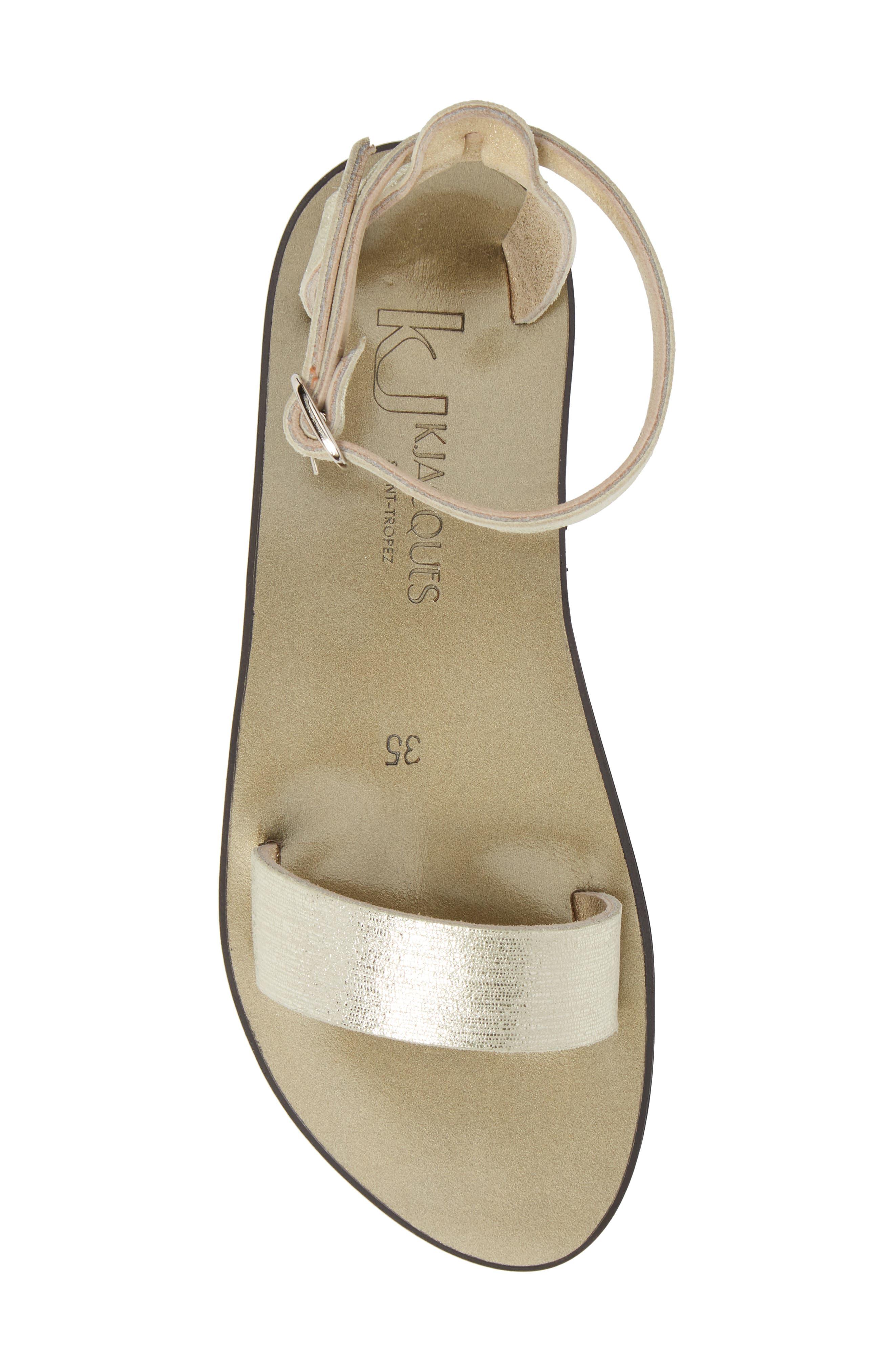 Pampa Sandal,                             Alternate thumbnail 5, color,                             Blonde / Platine Leather