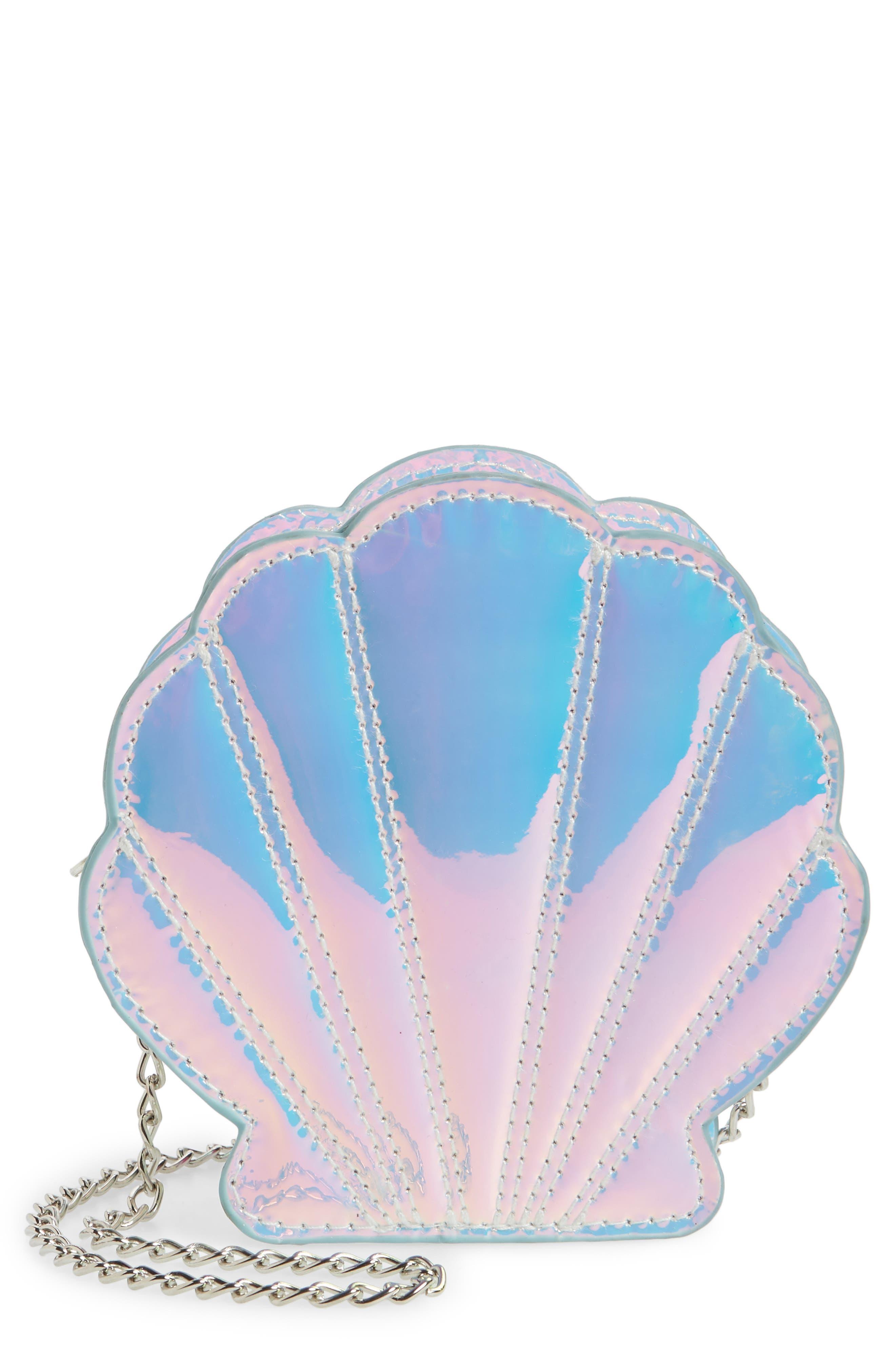 Capelli New York Iridescent Seashell Shoulder Bag (Girls)