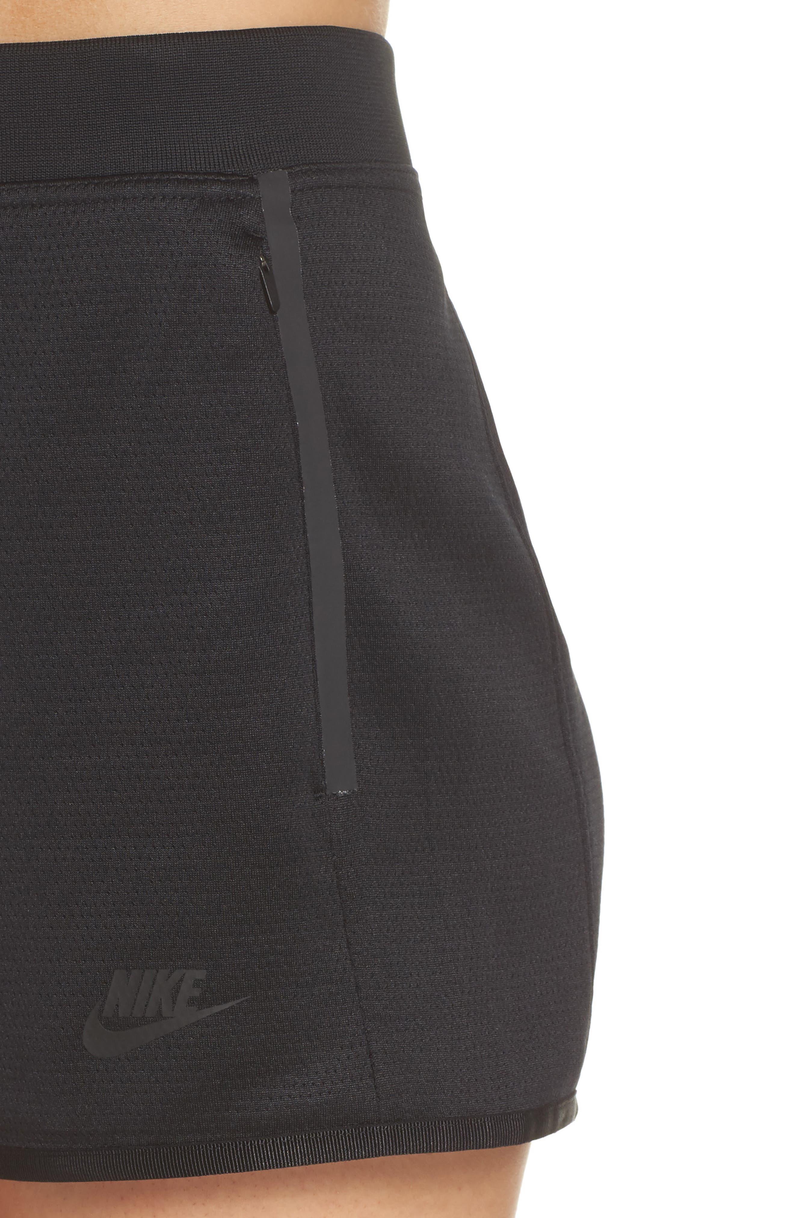 Sportswear Tech Fleece Short,                             Alternate thumbnail 4, color,                             Black/ Black