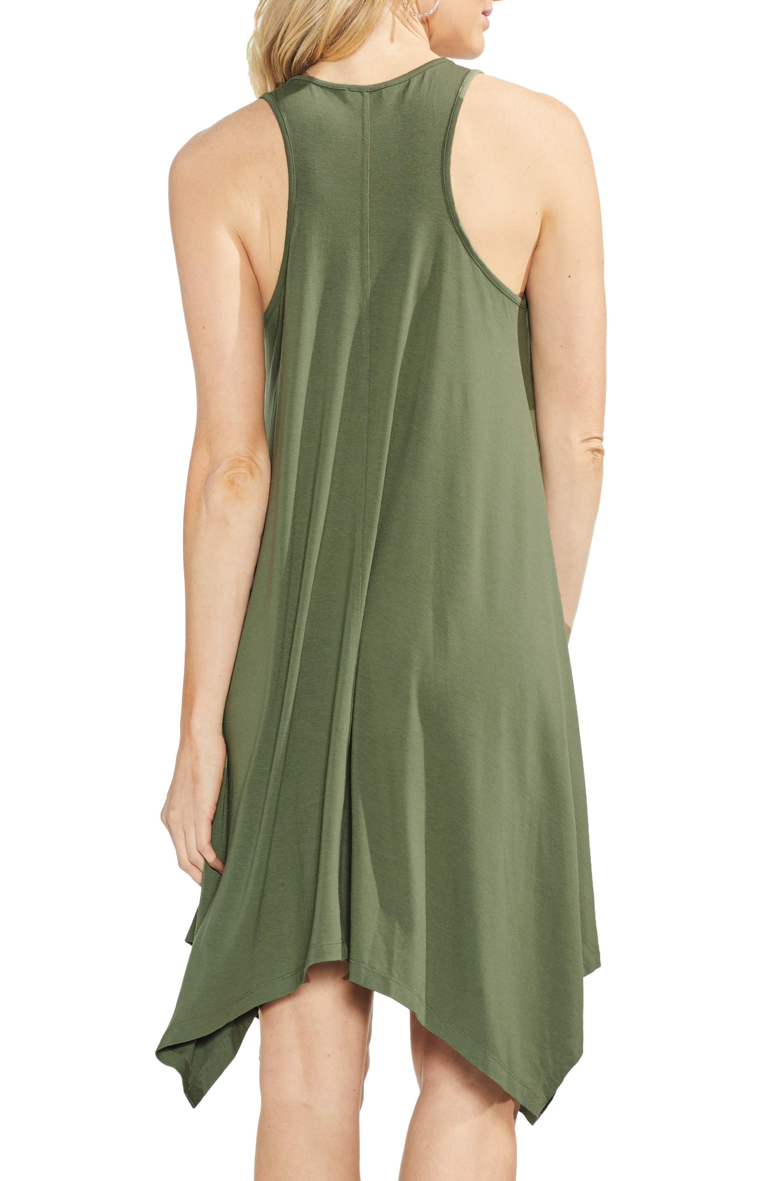 Handkerchief Hem Tank Dress,                             Alternate thumbnail 2, color,                             Canopy Green