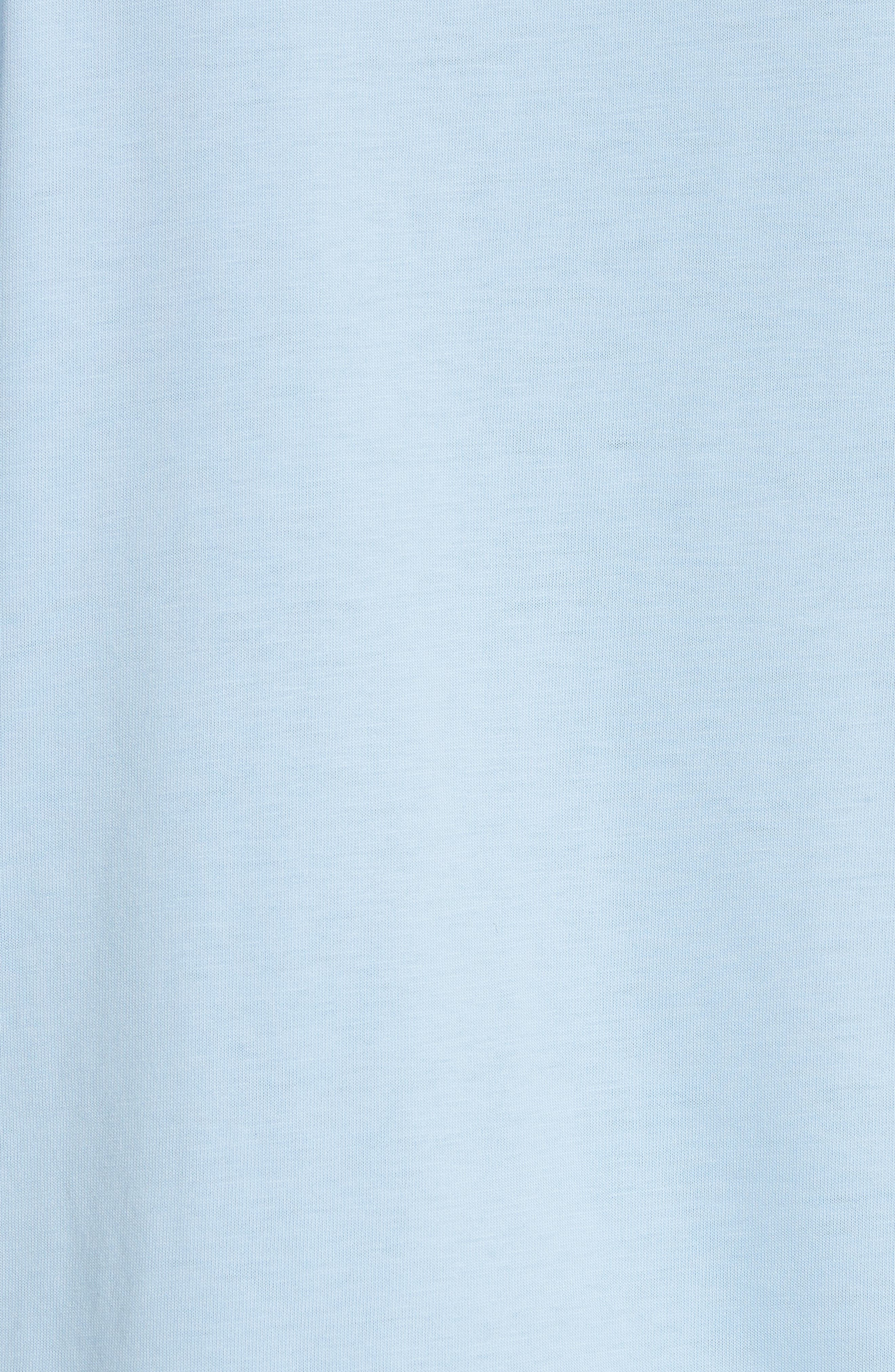 Lace Inset Cotton Top,                             Alternate thumbnail 5, color,                             Bleu Ciel