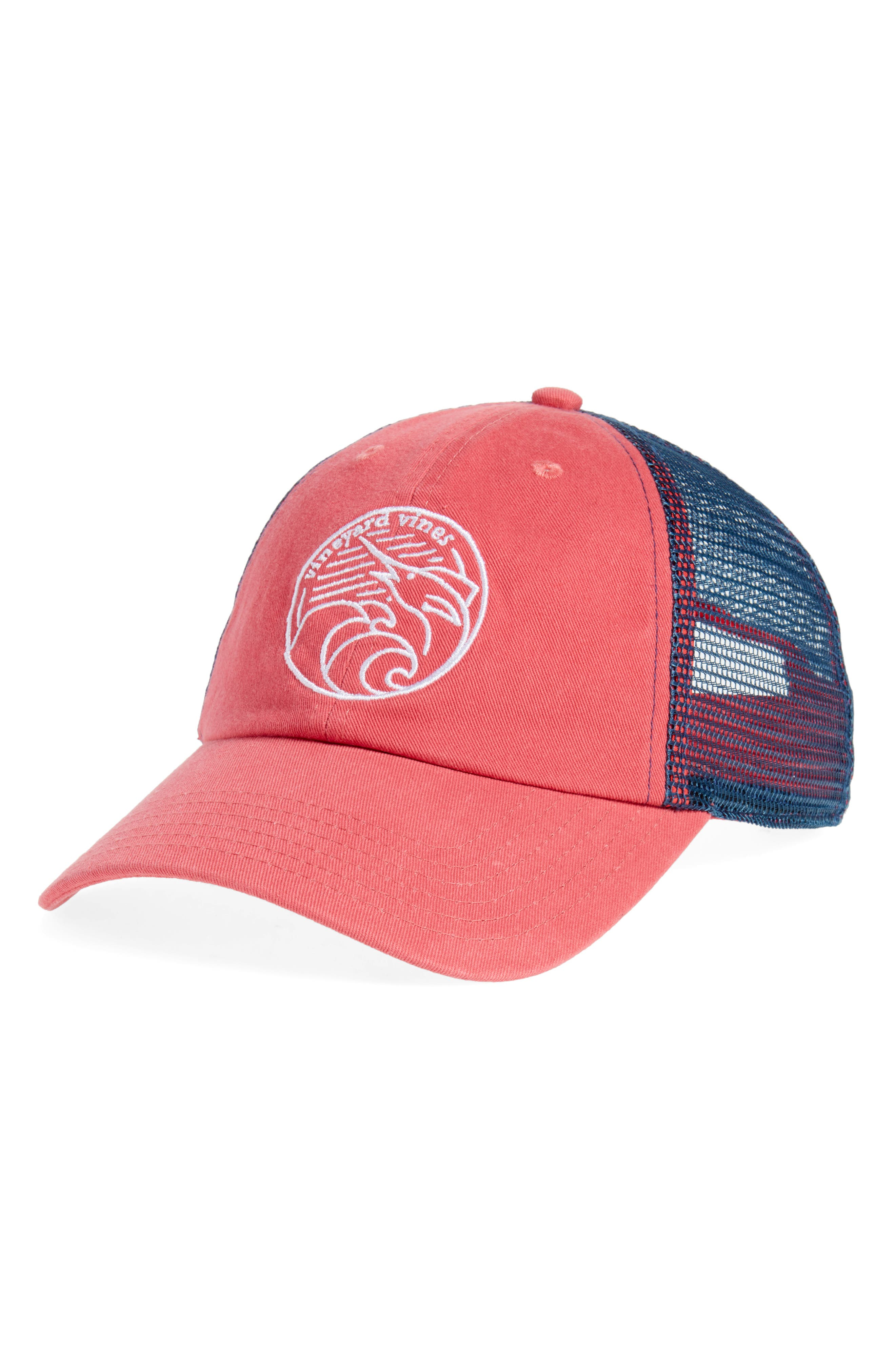 Low Pro Marlin Trucker Cap,                             Main thumbnail 1, color,                             Jetty Red