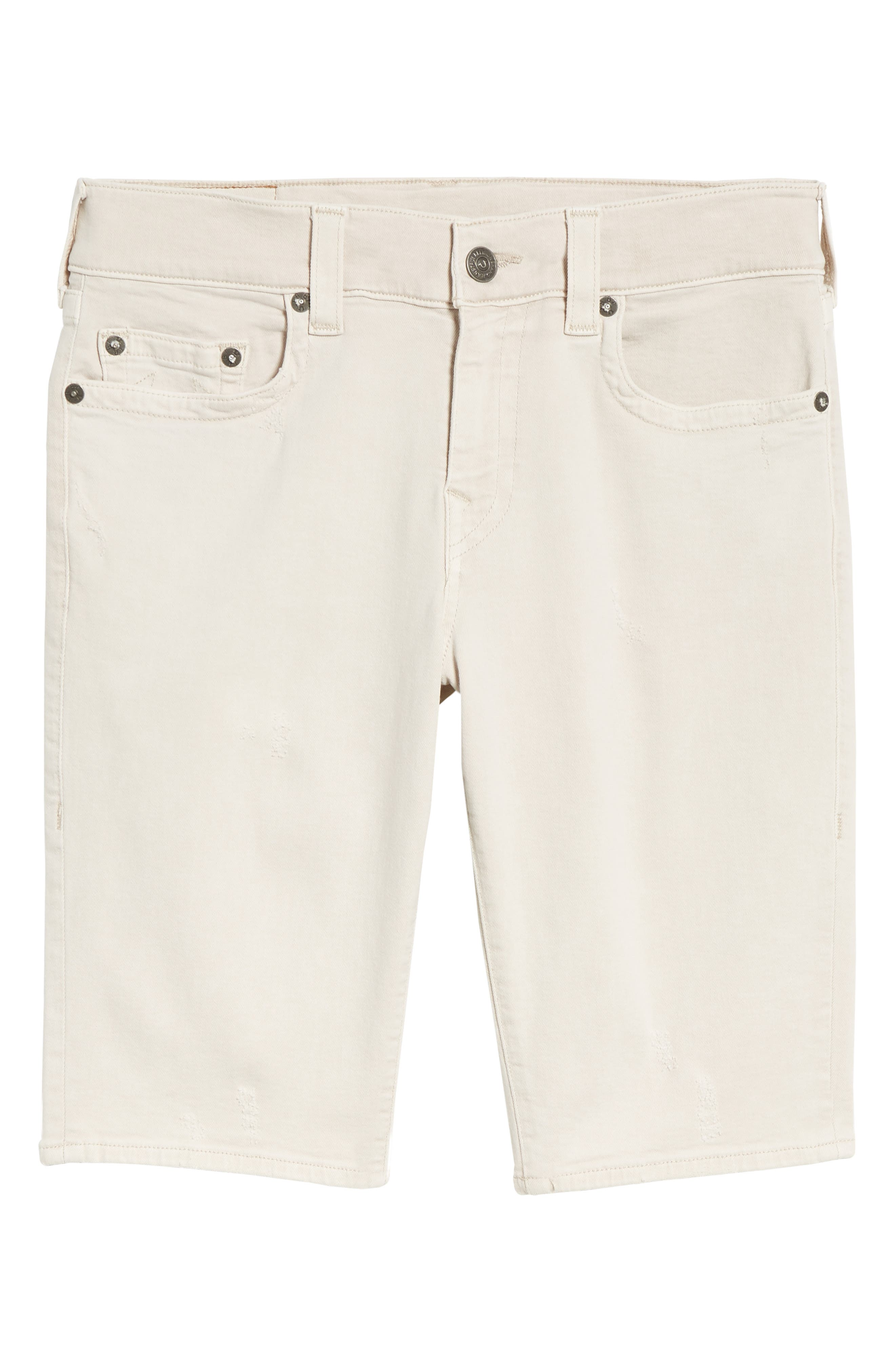 Ricky Relaxed Fit Denim Shorts,                             Alternate thumbnail 6, color,                             Clay