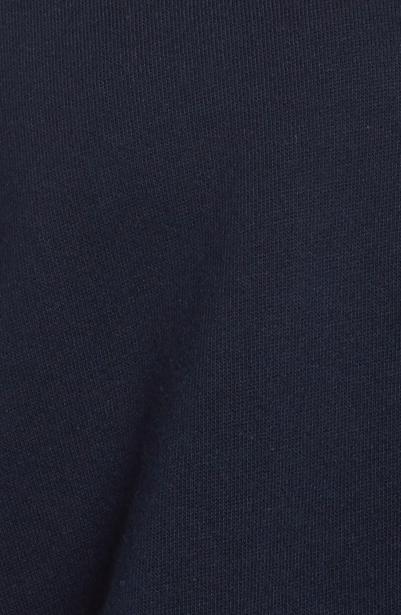 Asymmetric Hem Sweatshirt,                             Alternate thumbnail 5, color,                             Navy Blazer