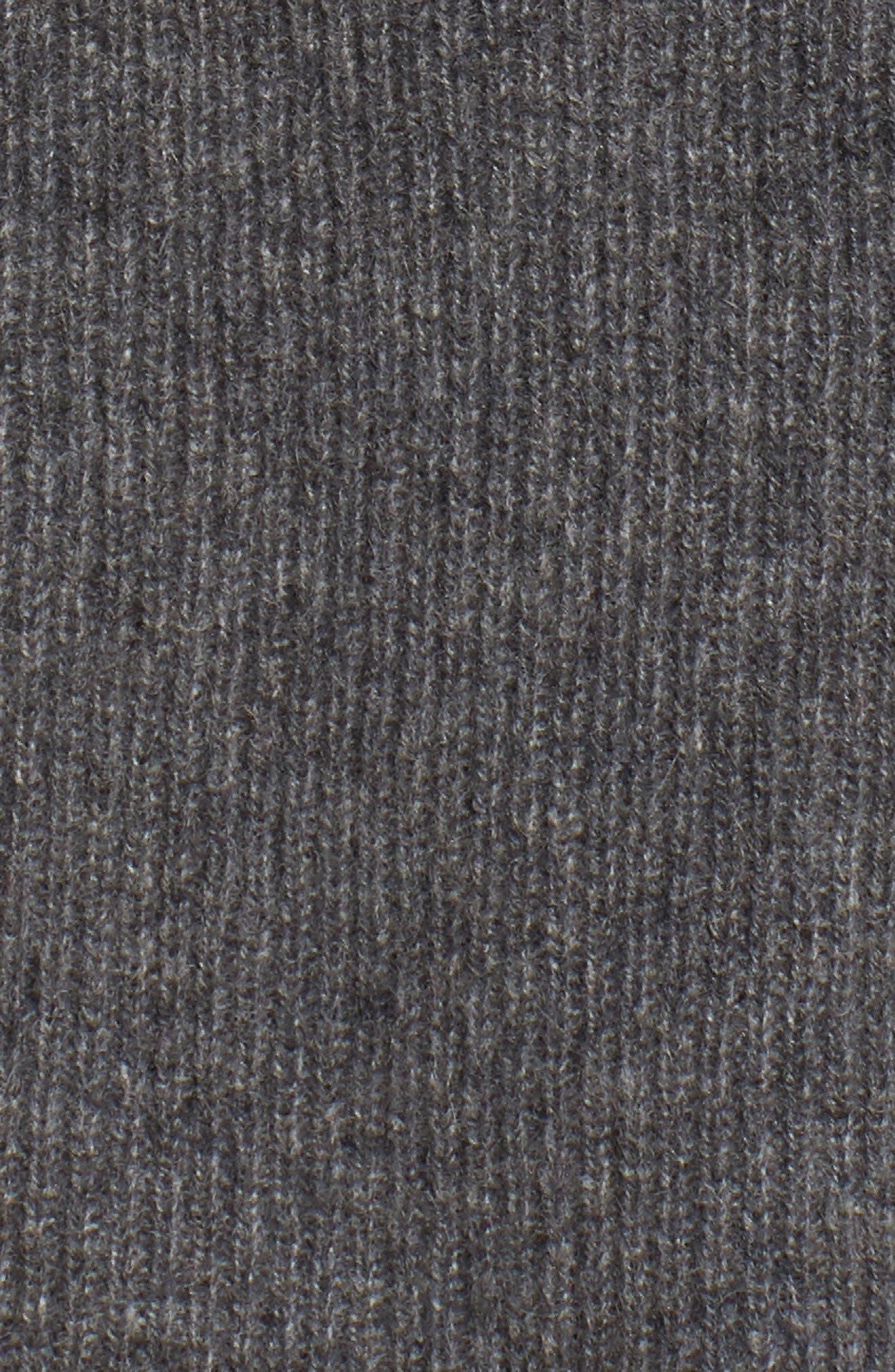 Ribbed Cashmere Vest,                             Alternate thumbnail 5, color,                             Grey Dark Heather