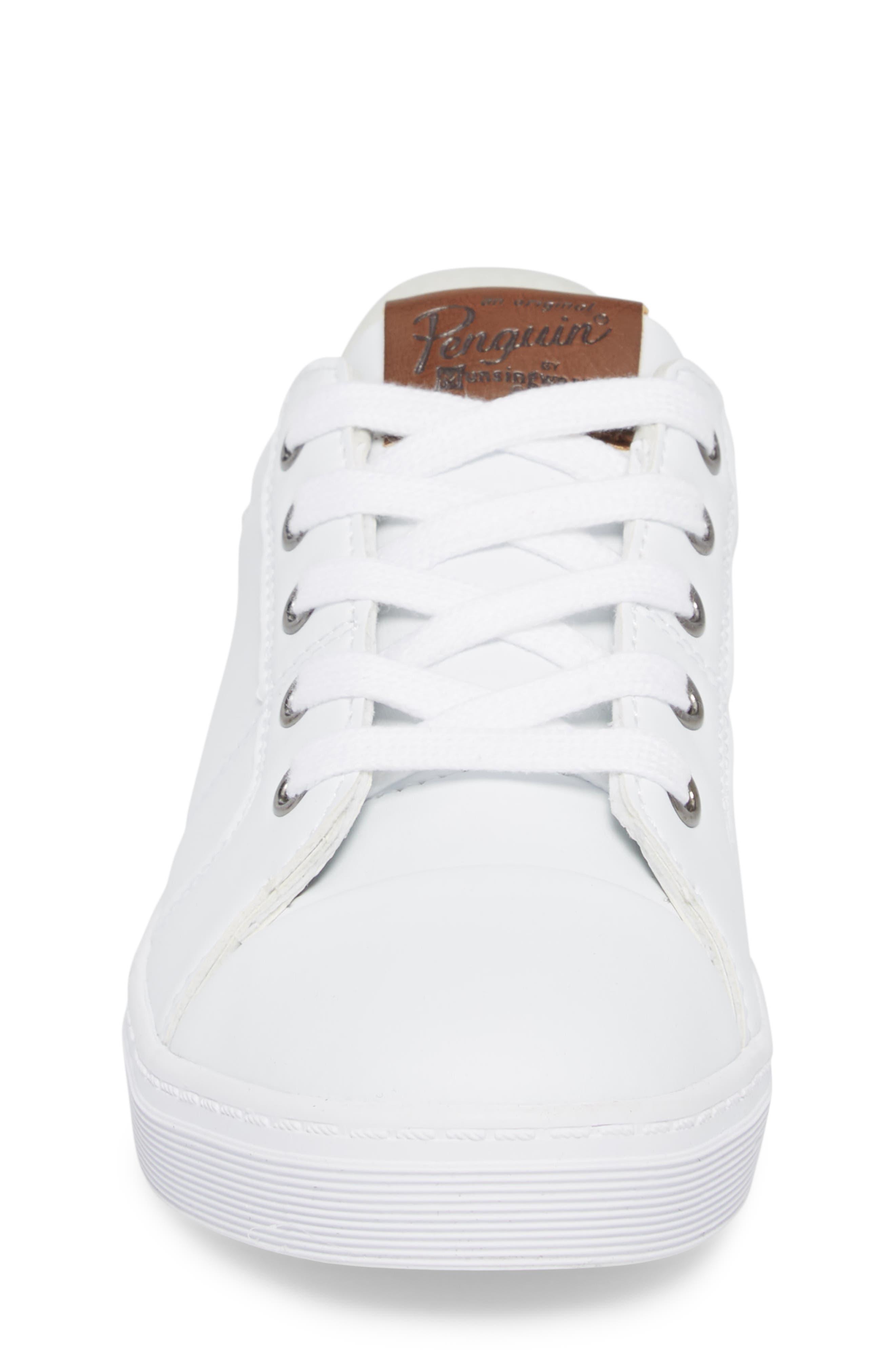 Cobin Sneaker,                             Alternate thumbnail 4, color,                             White/ Cognac