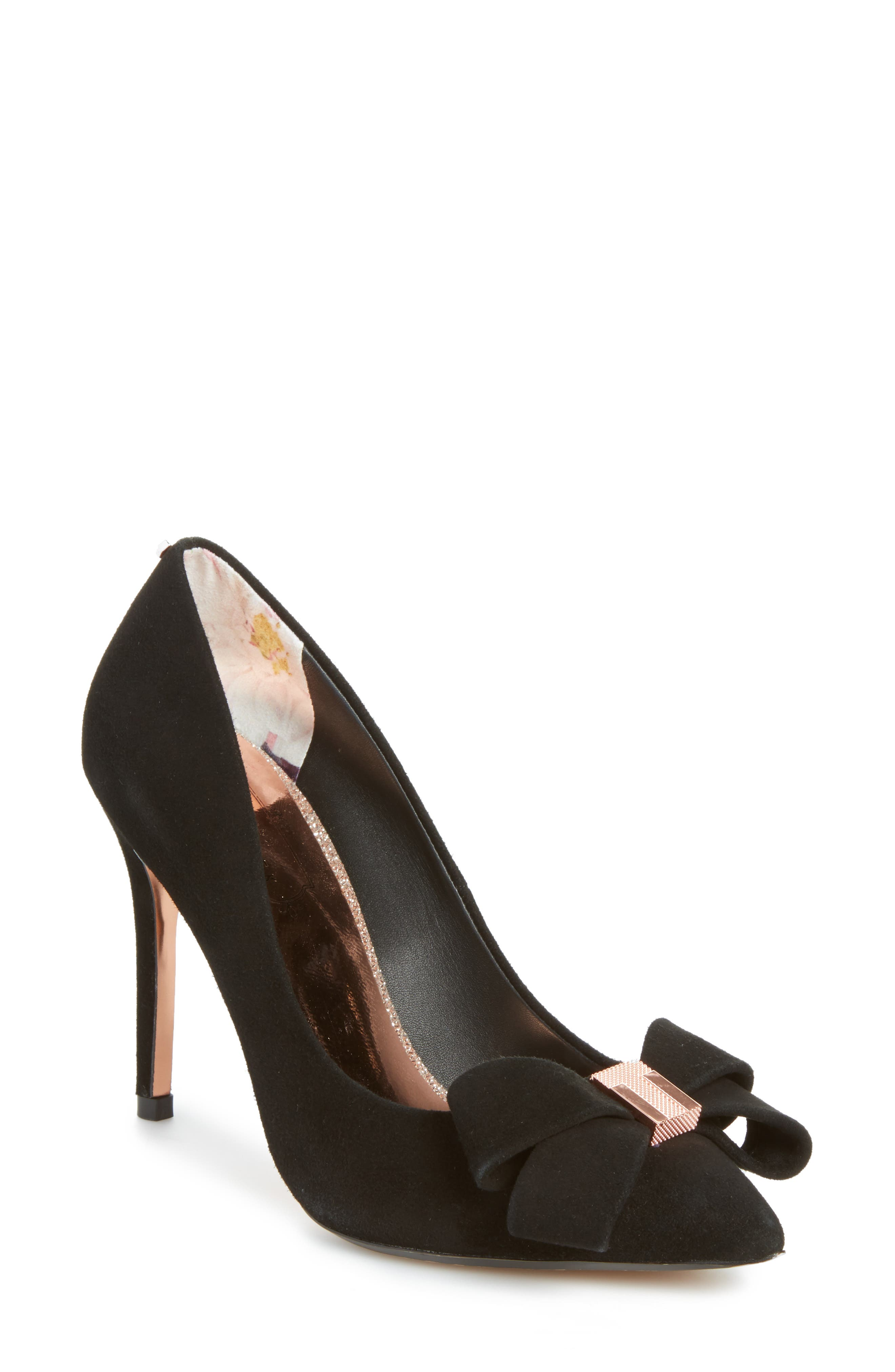 Skalett Pump,                             Main thumbnail 1, color,                             Black Suede