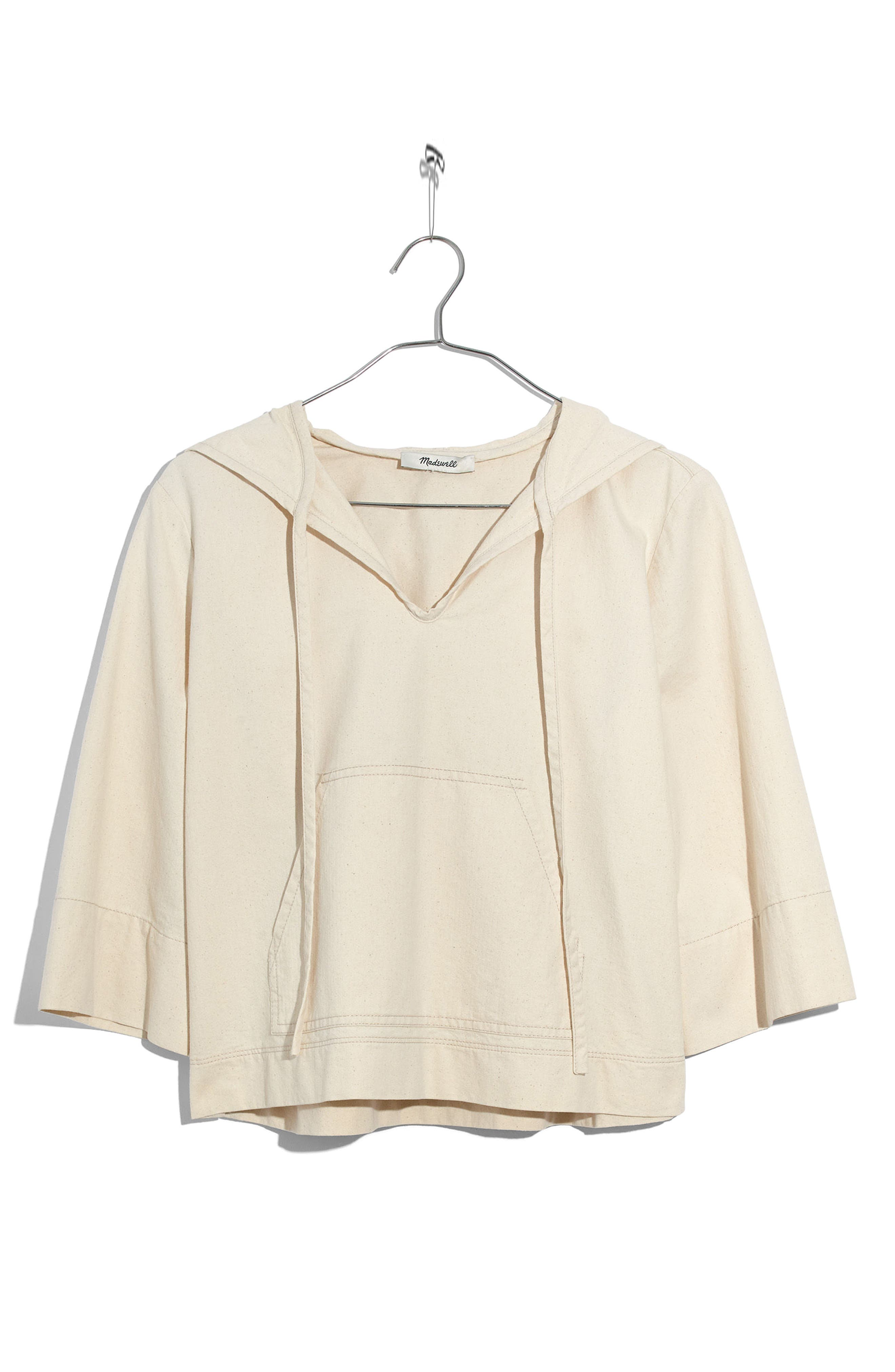 Hooded Popover Top,                             Alternate thumbnail 4, color,                             Canvas