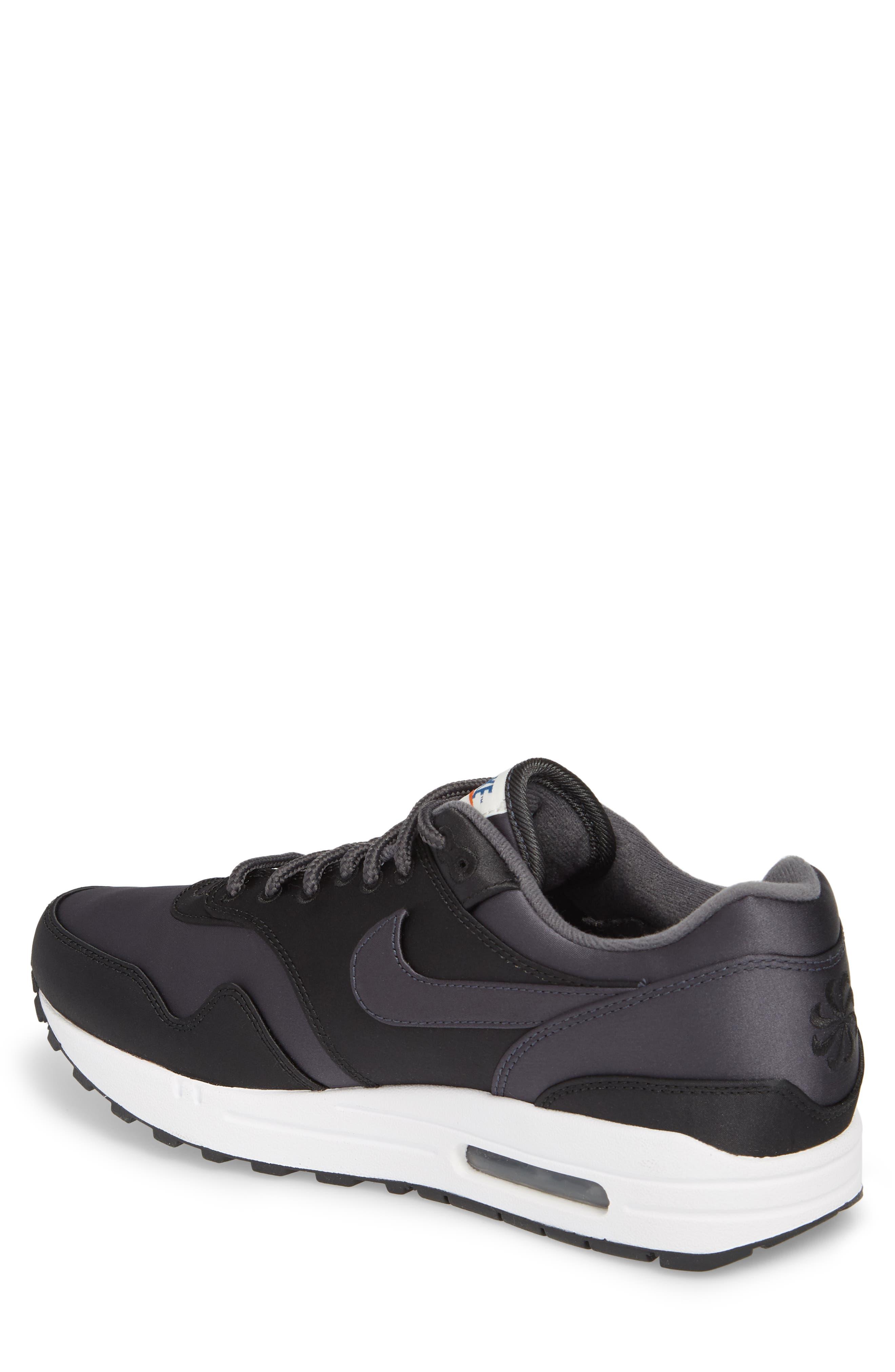 Air Max 1 SE Sneaker,                             Alternate thumbnail 2, color,                             Black/ Anthracite/ White
