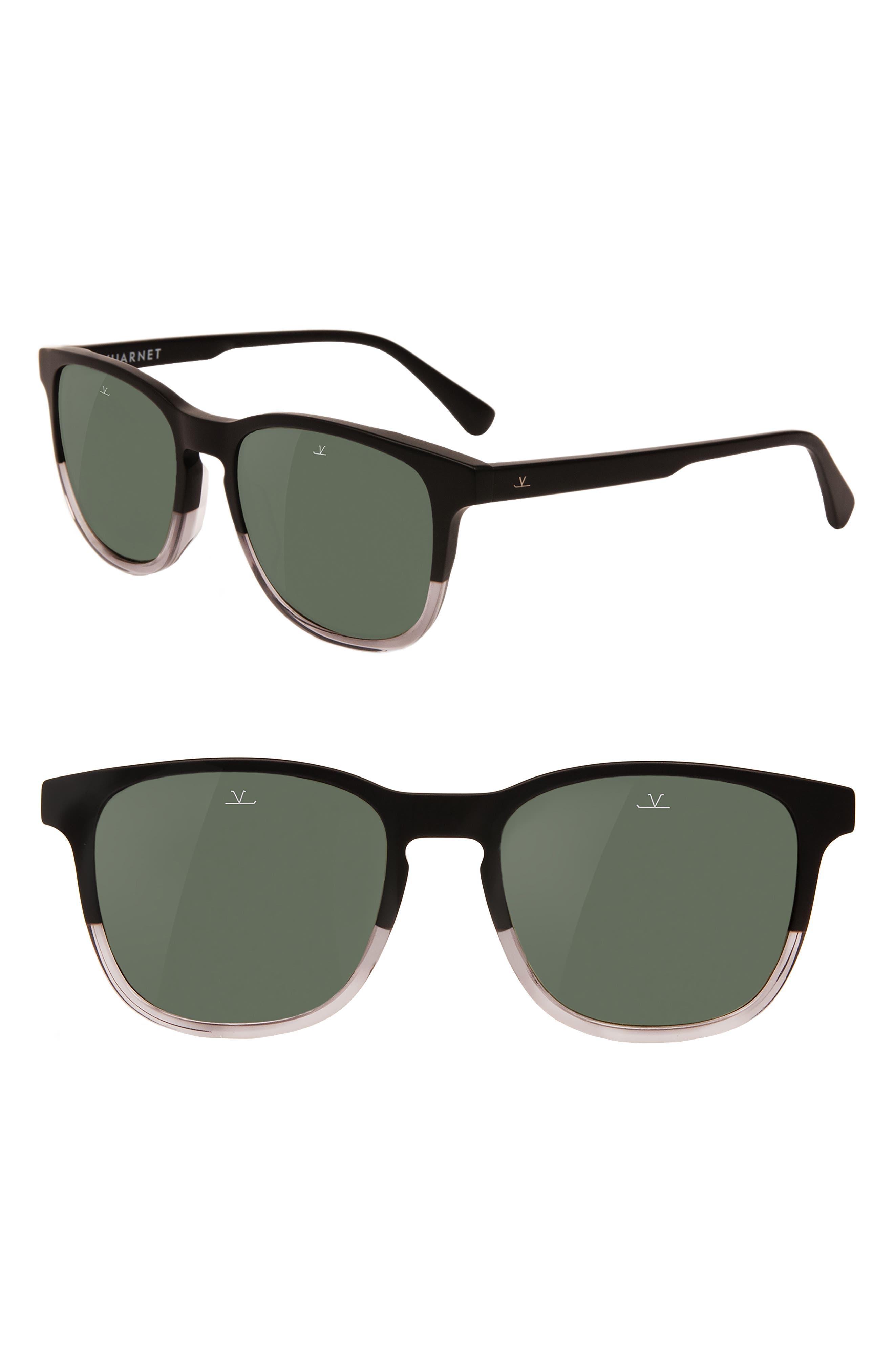 District Medium 53mm Polarized Sunglasses,                             Main thumbnail 1, color,                             Matt Black/ Grey Polarized