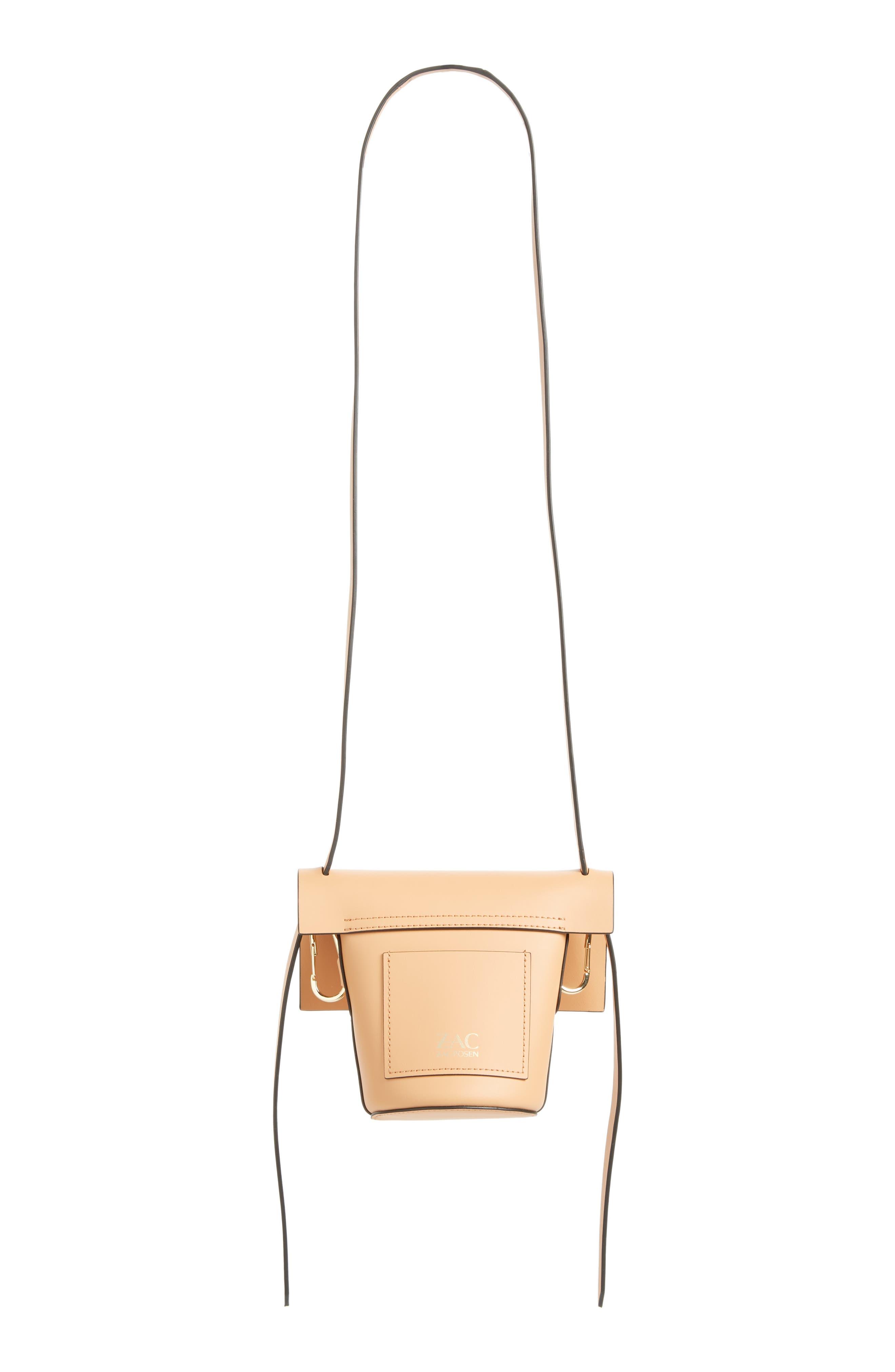 Mini Belay Calfskin Leather Crossbody Bucket Bag,                             Alternate thumbnail 3, color,                             Vachetta