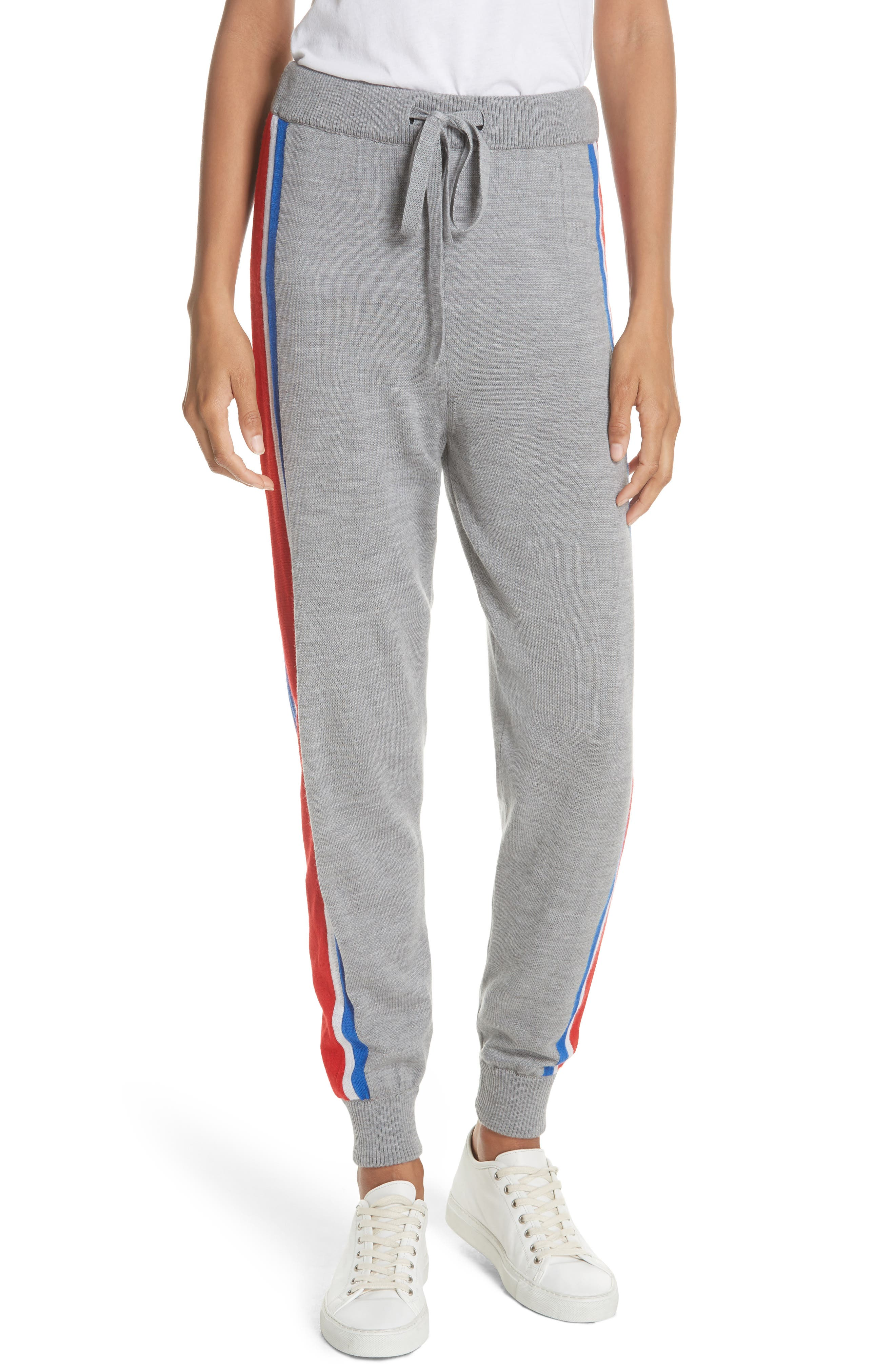 ETRE CECILE STRIPE KNIT TRACK PANTS