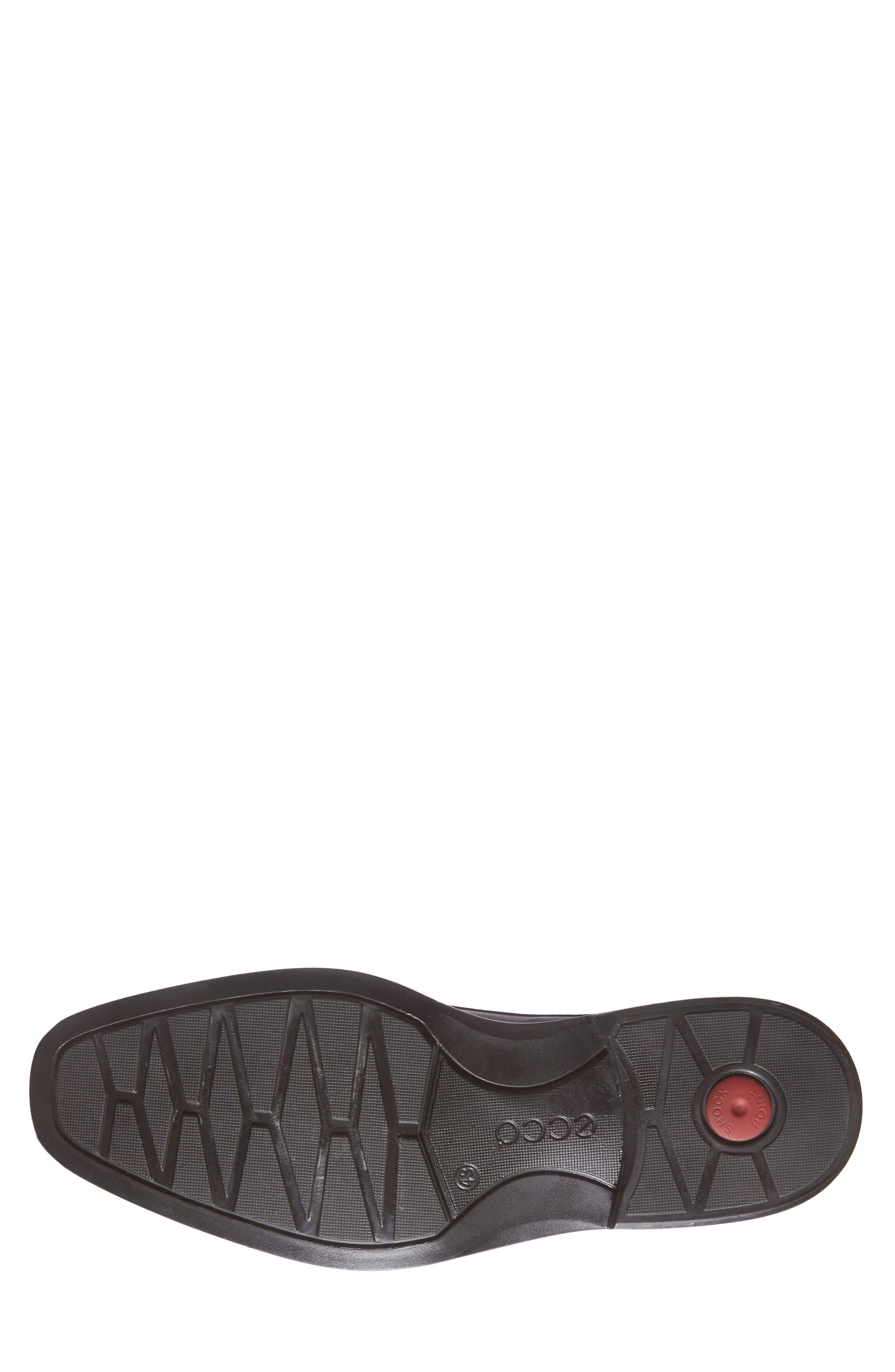 'Windsor' Slip-On,                             Alternate thumbnail 4, color,                             Black/Black Leather