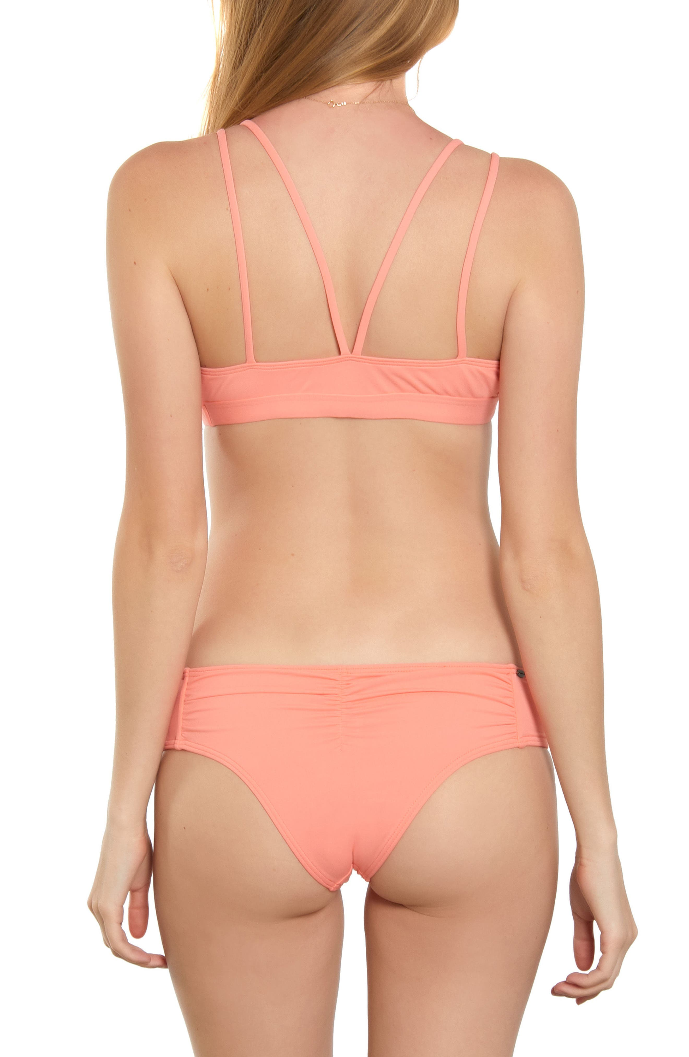 Salt Water Solids Hipster Bikini Bottoms,                             Alternate thumbnail 3, color,                             Mai Tai