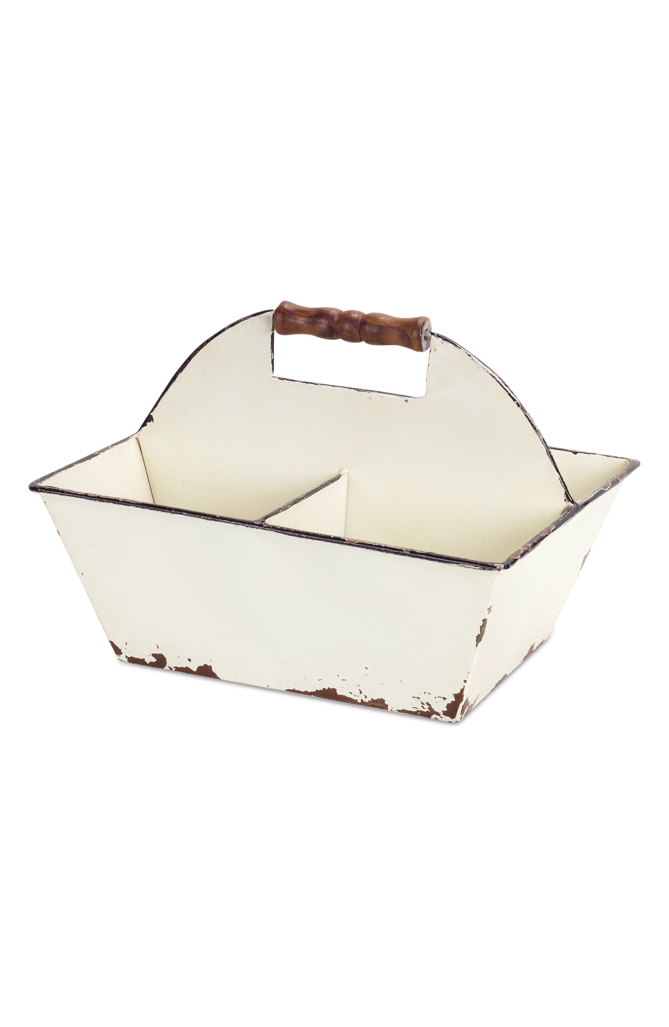 Melrose Gifts Metal Divided Carrying Tray