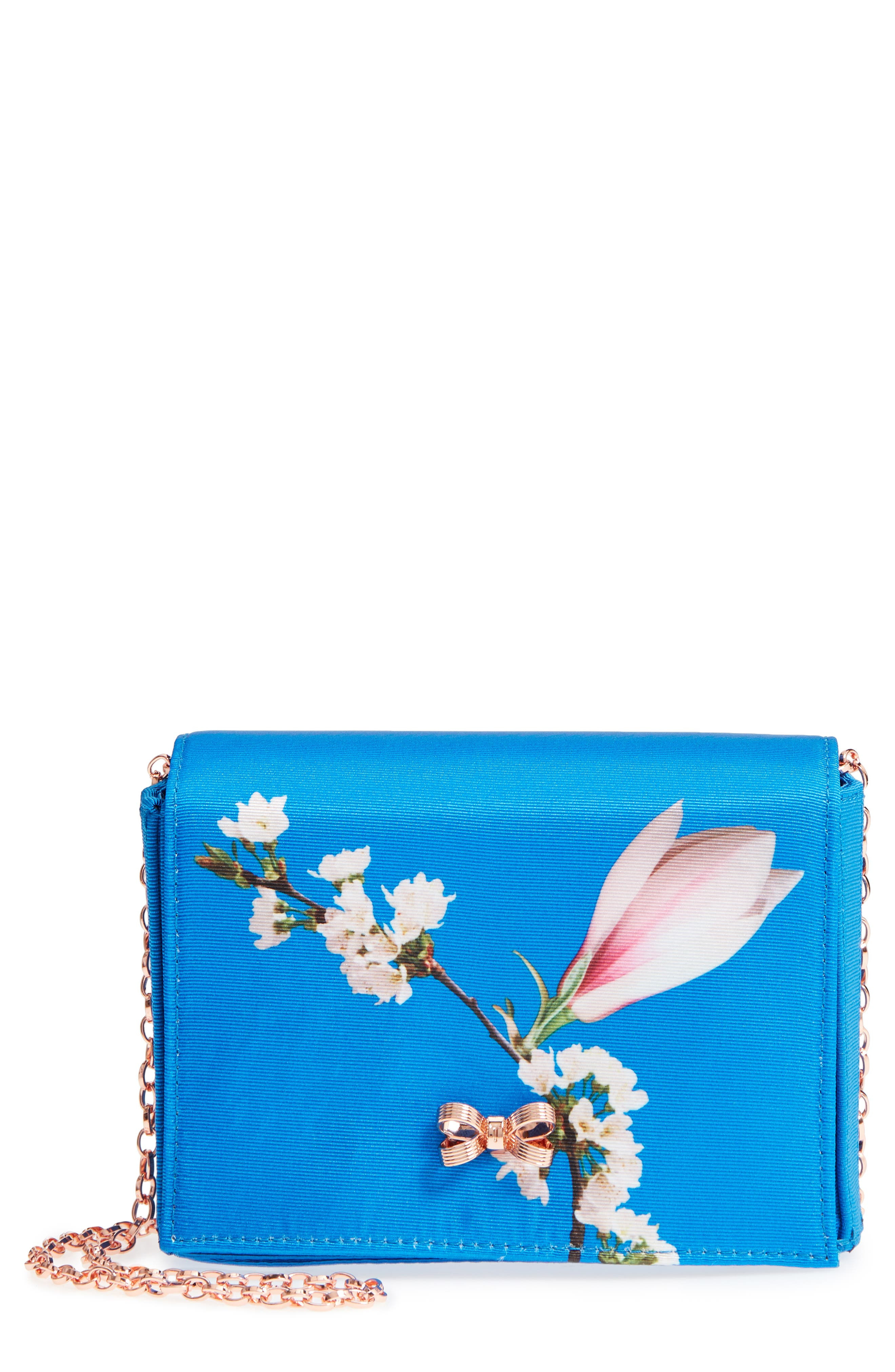 Harmony Print Evening Bag,                             Main thumbnail 1, color,                             Bright Blue