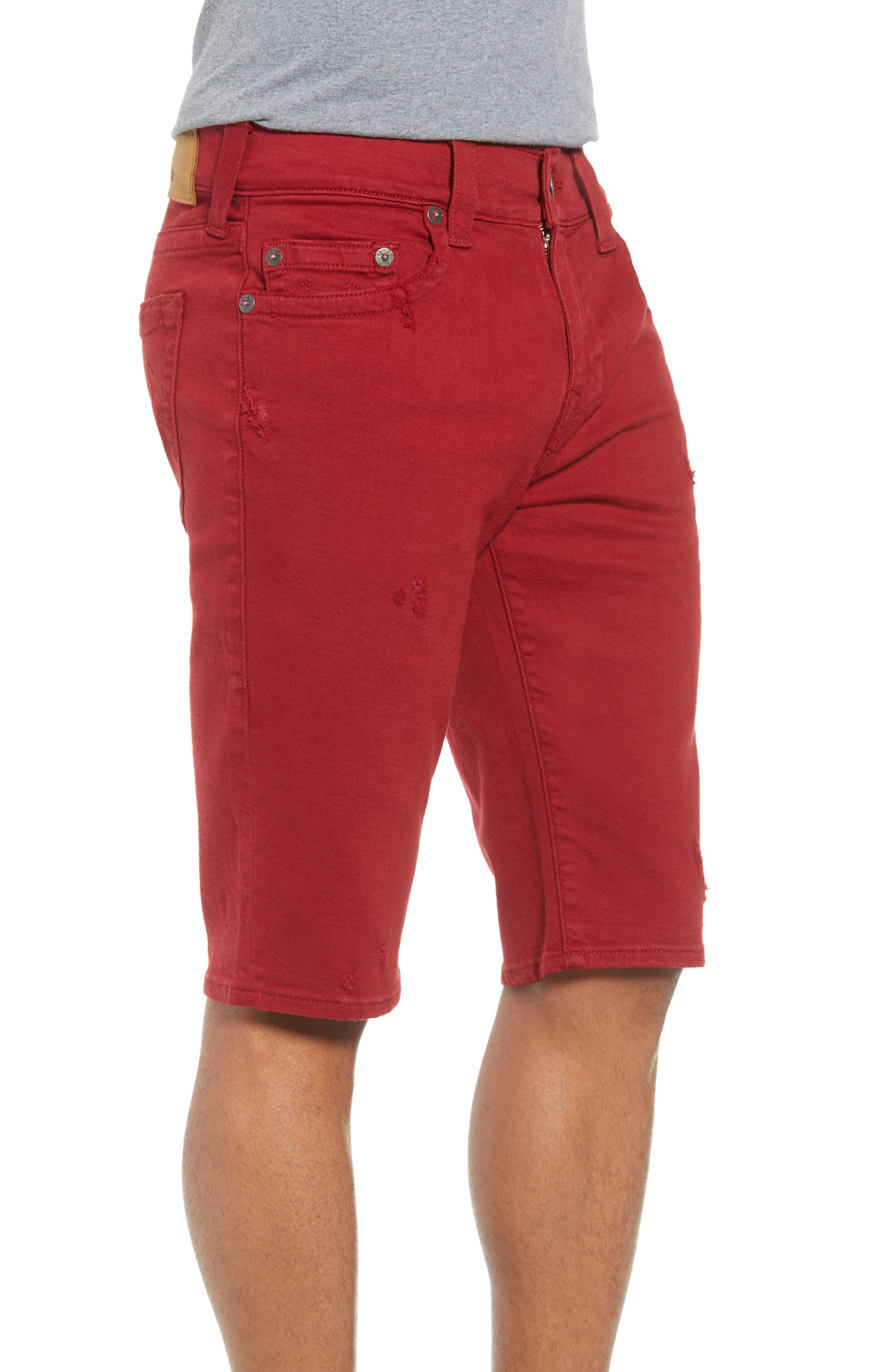 Ricky Relaxed Fit Shorts,                             Alternate thumbnail 3, color,                             Firecracker Red