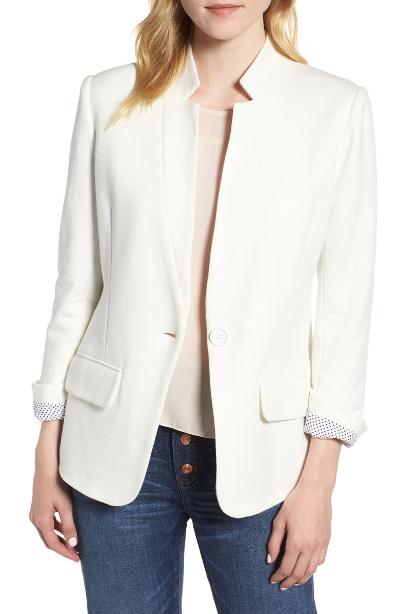 Olivia Moon Cotton Blend Knit Blazer (Regular & Petite) | Nordstrom