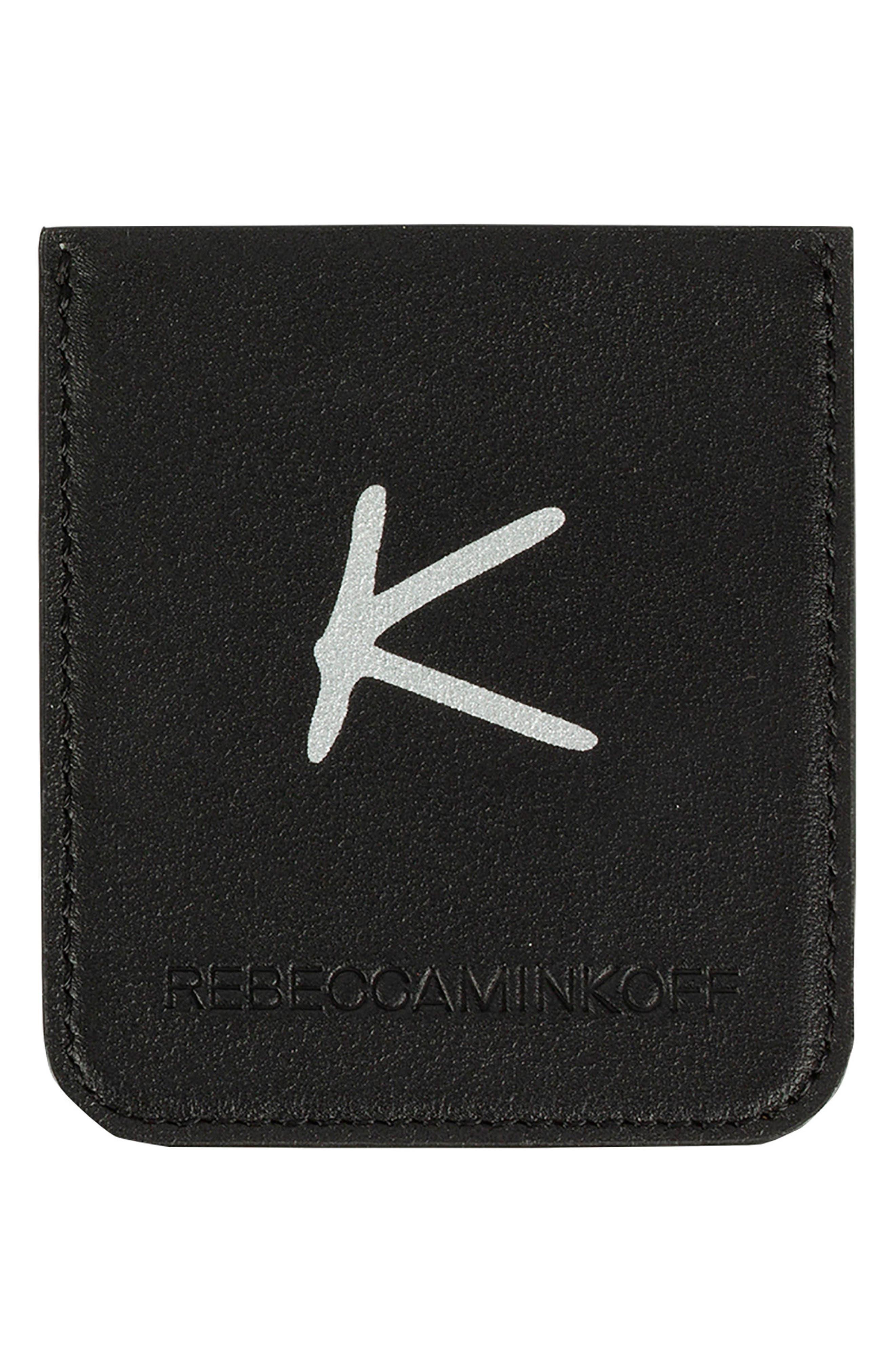 Initial Smartphone Sticker Pocket,                             Main thumbnail 1, color,                             K - Black/ Silver Foil