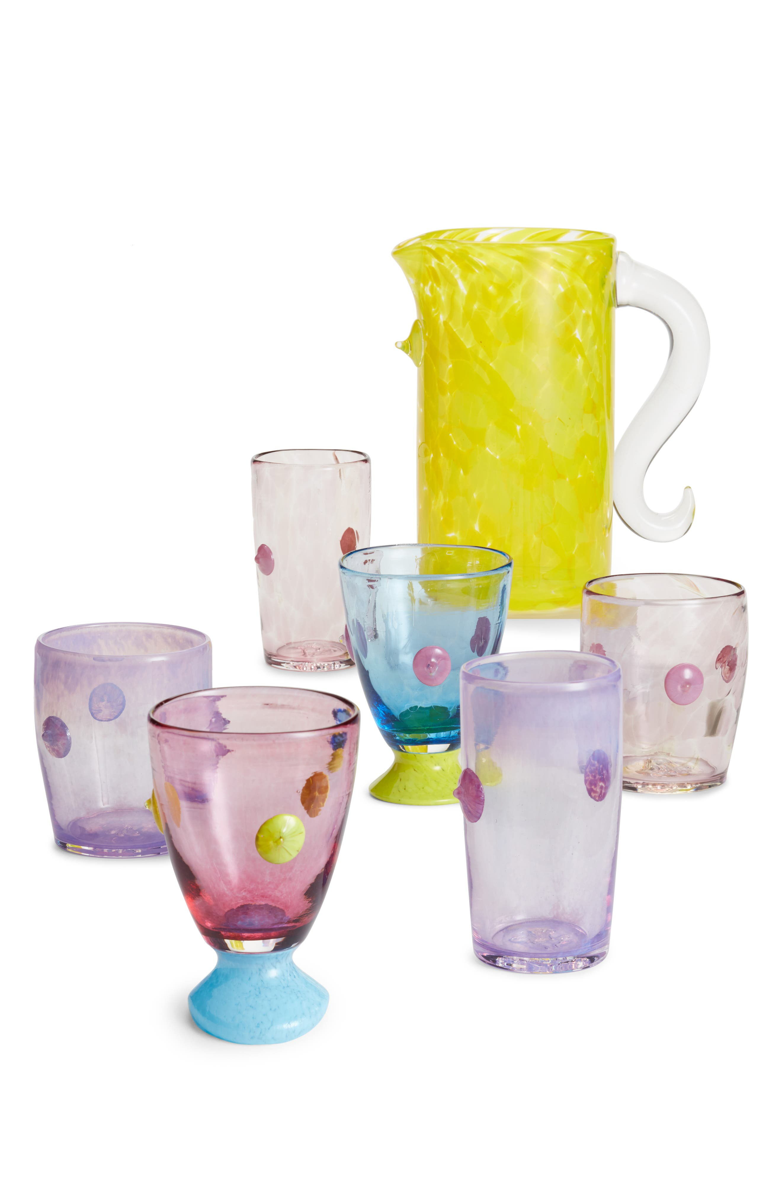 Asp & Hand Bubba Blushing Orchid Glass Tumbler,                             Alternate thumbnail 2, color,                             Blushing Orchid