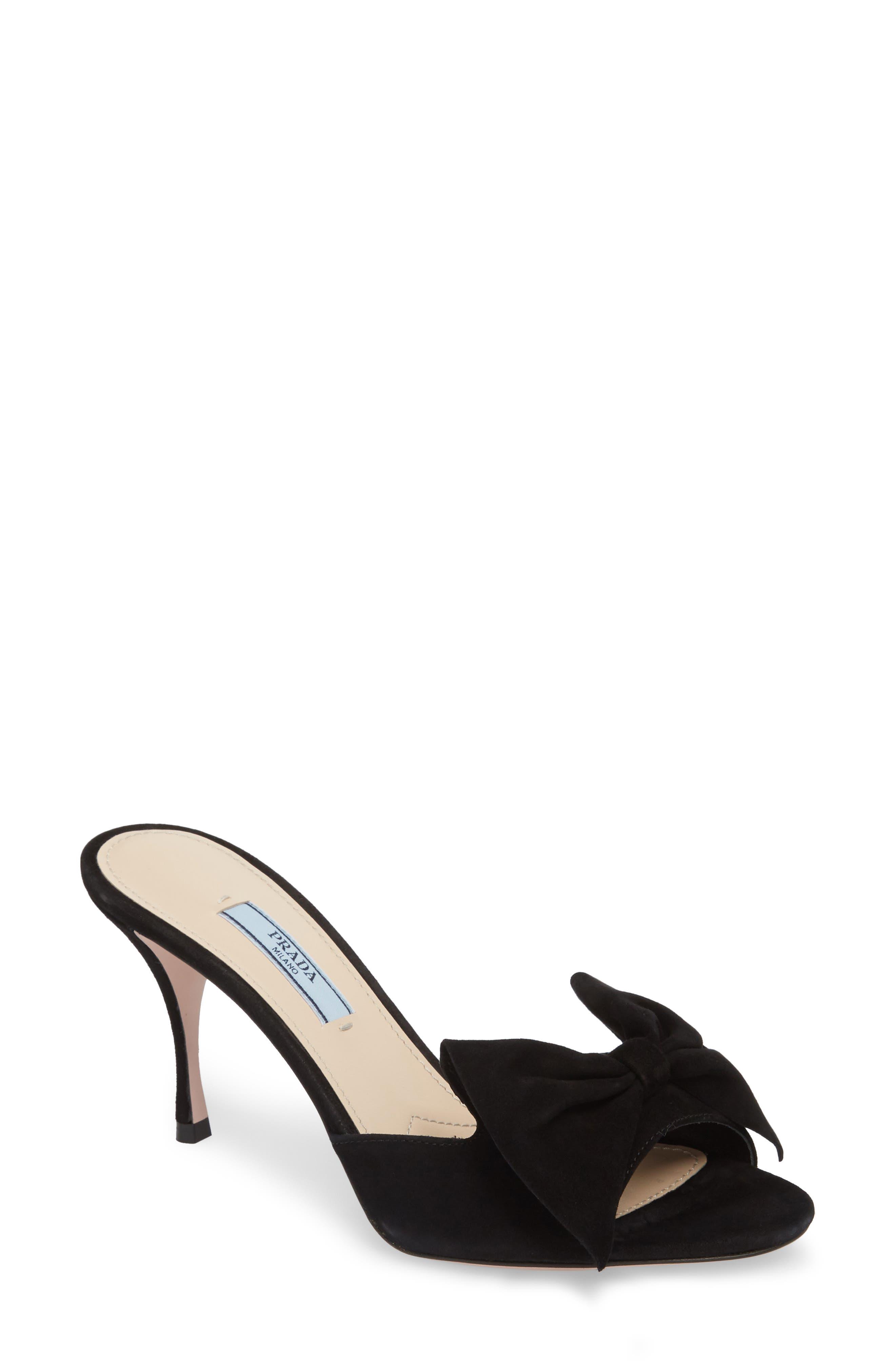 Prada Bow Slide Sandal (Women)