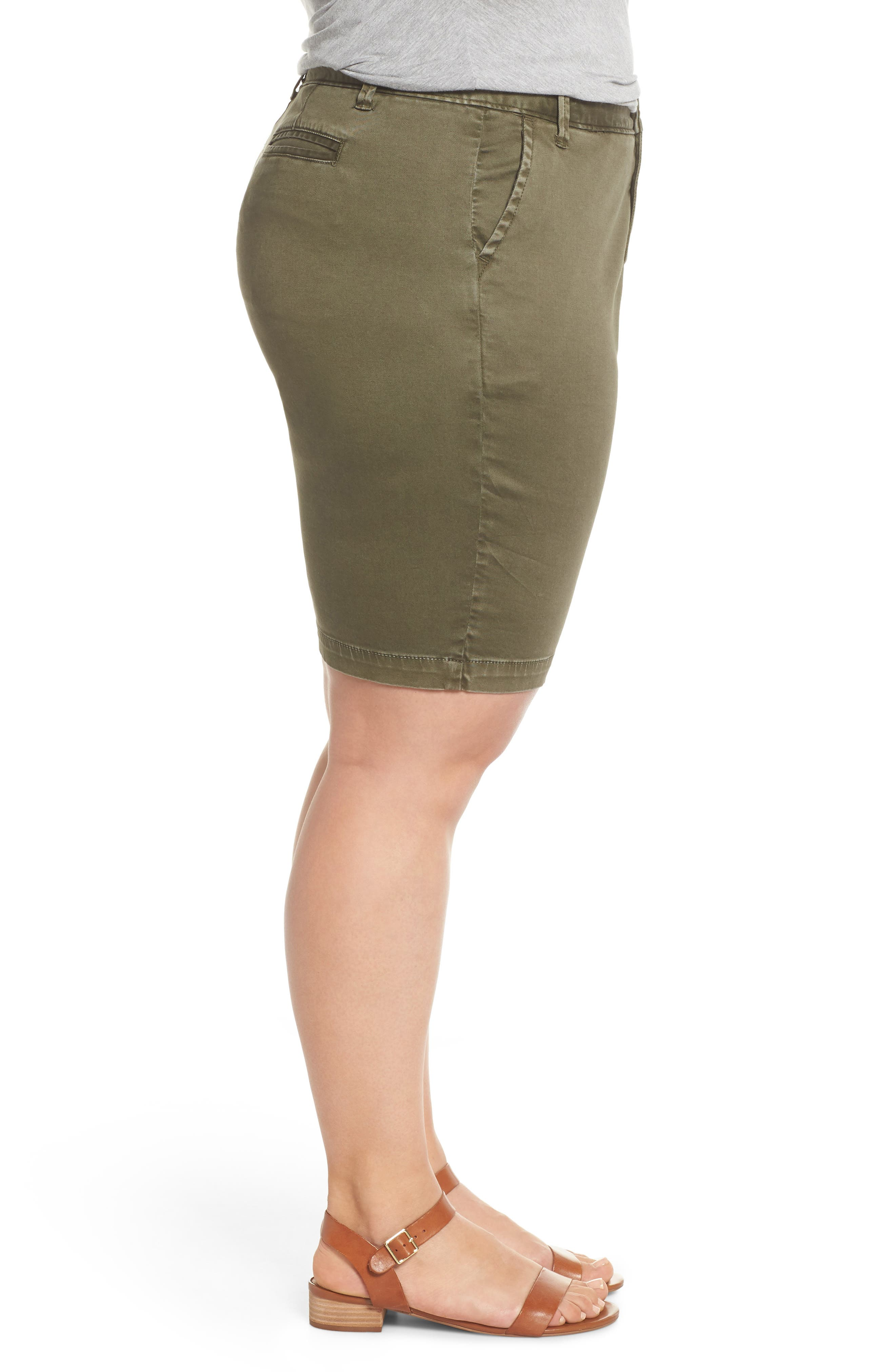 Twill Shorts,                             Alternate thumbnail 3, color,                             Olive Sarma