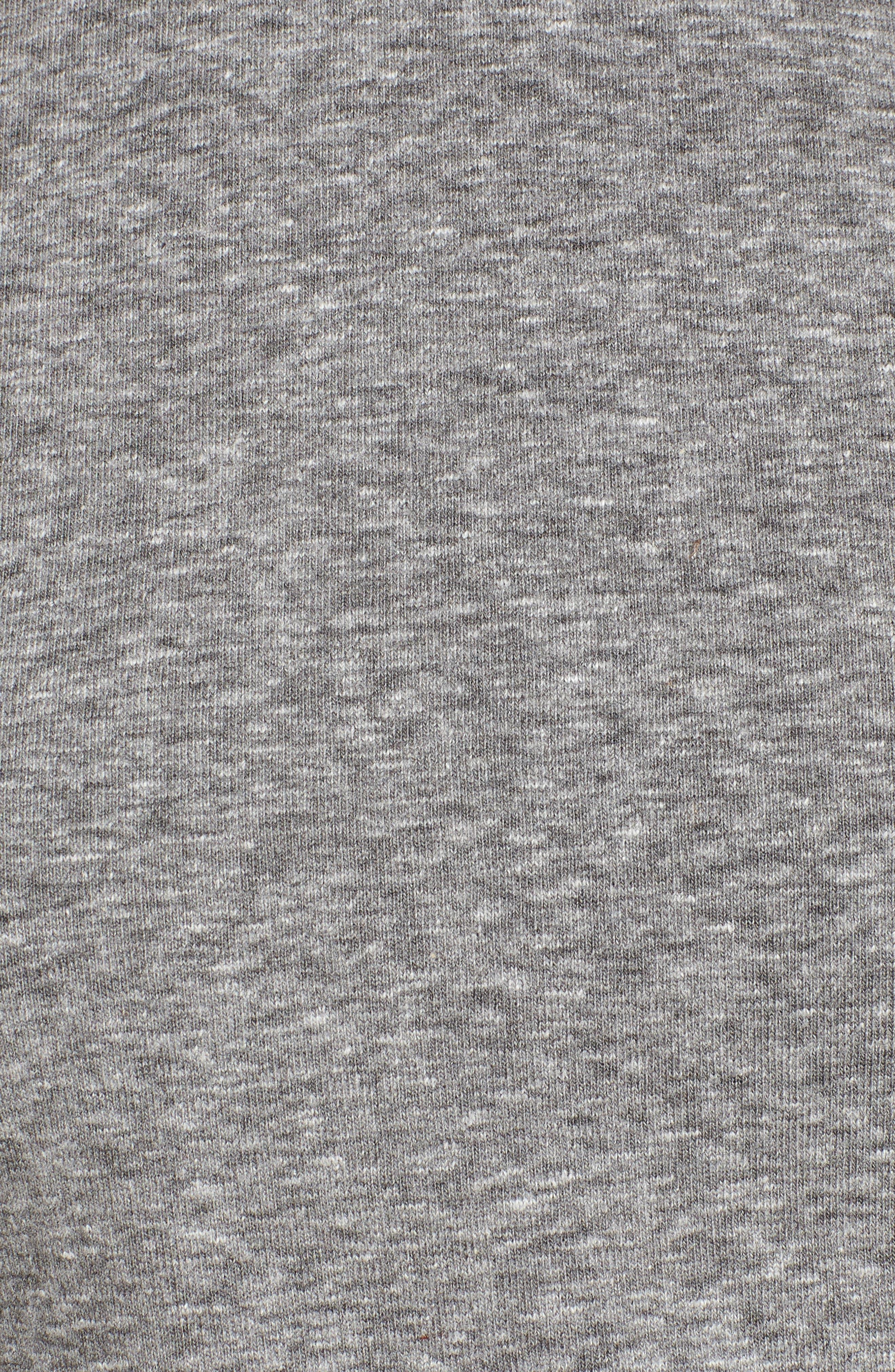 Cinch Side T-Shirt Dress,                             Alternate thumbnail 6, color,                             Heather Grey