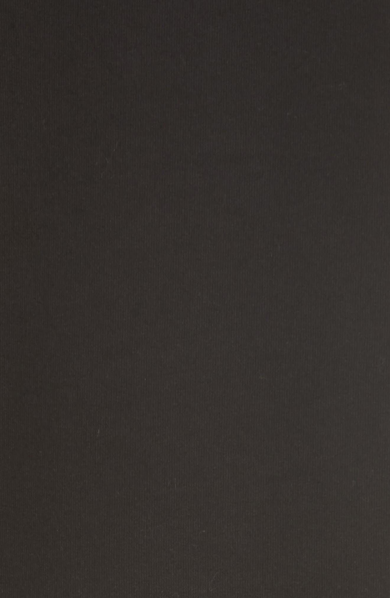 Pleat Ruffle Trim Asymmetrical Dress,                             Alternate thumbnail 5, color,                             Black/ Black