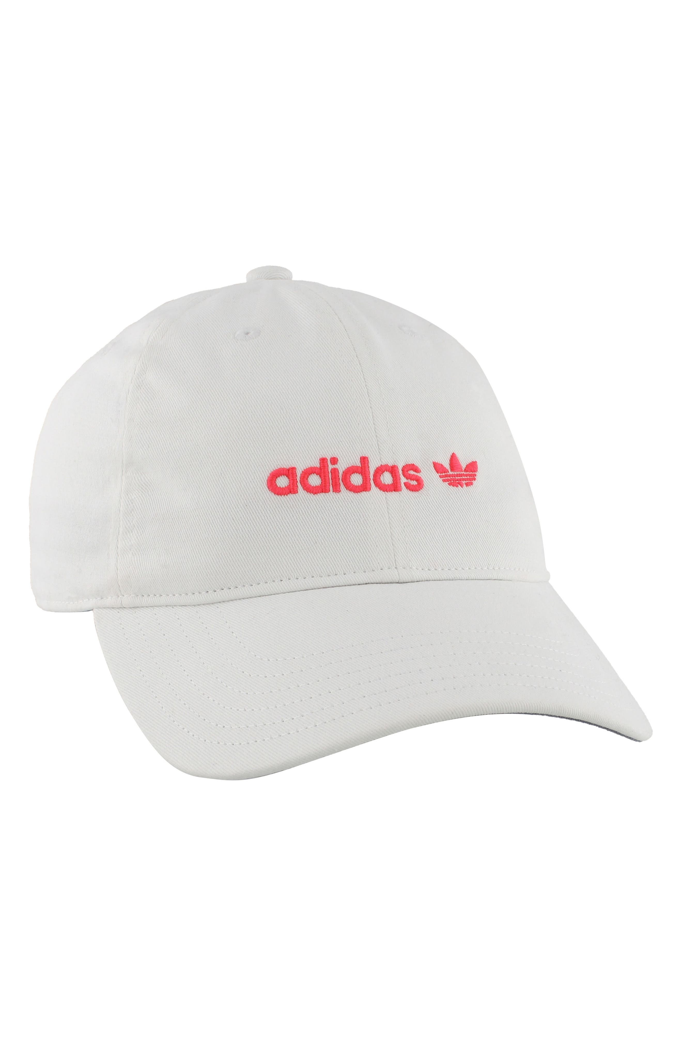 Originals Relaxed Strap-Back Cap,                             Main thumbnail 1, color,                             White/ Flash Red