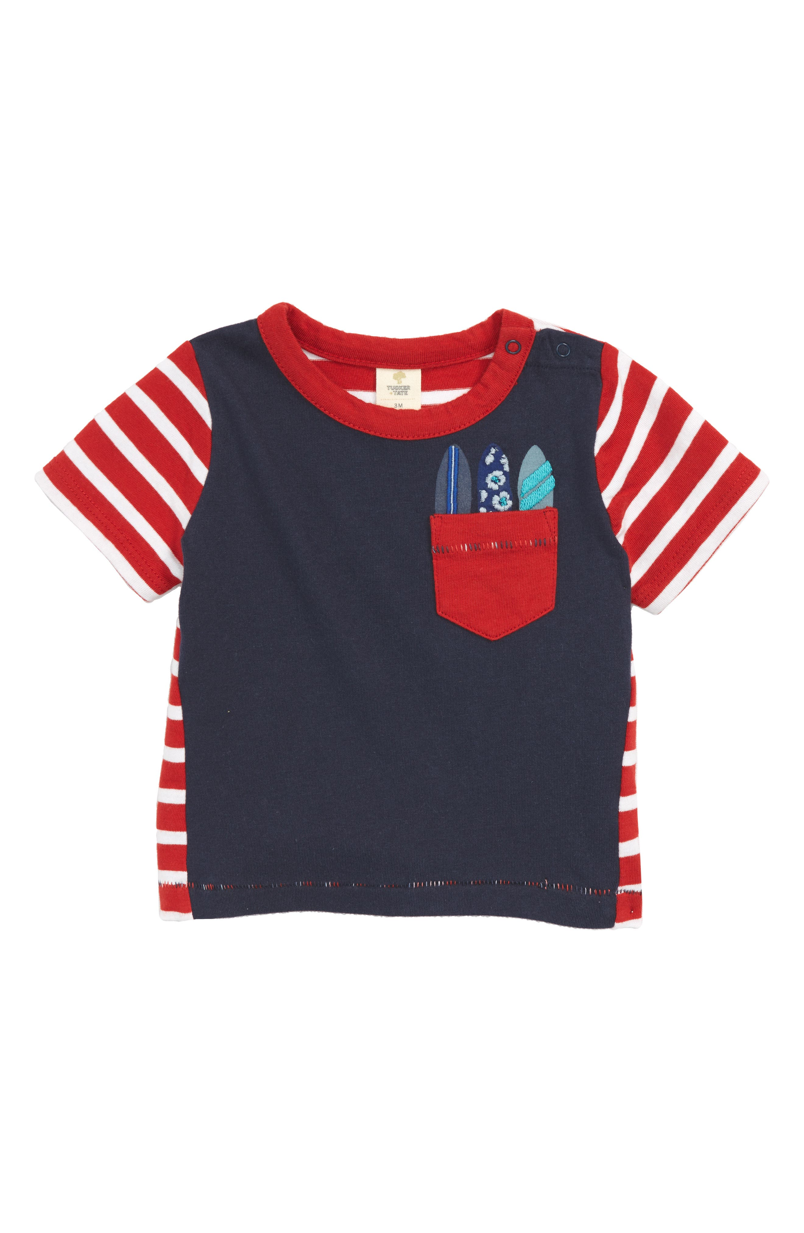 Tucker + Tate Embroidered Pocket T-Shirt (Baby Boys)