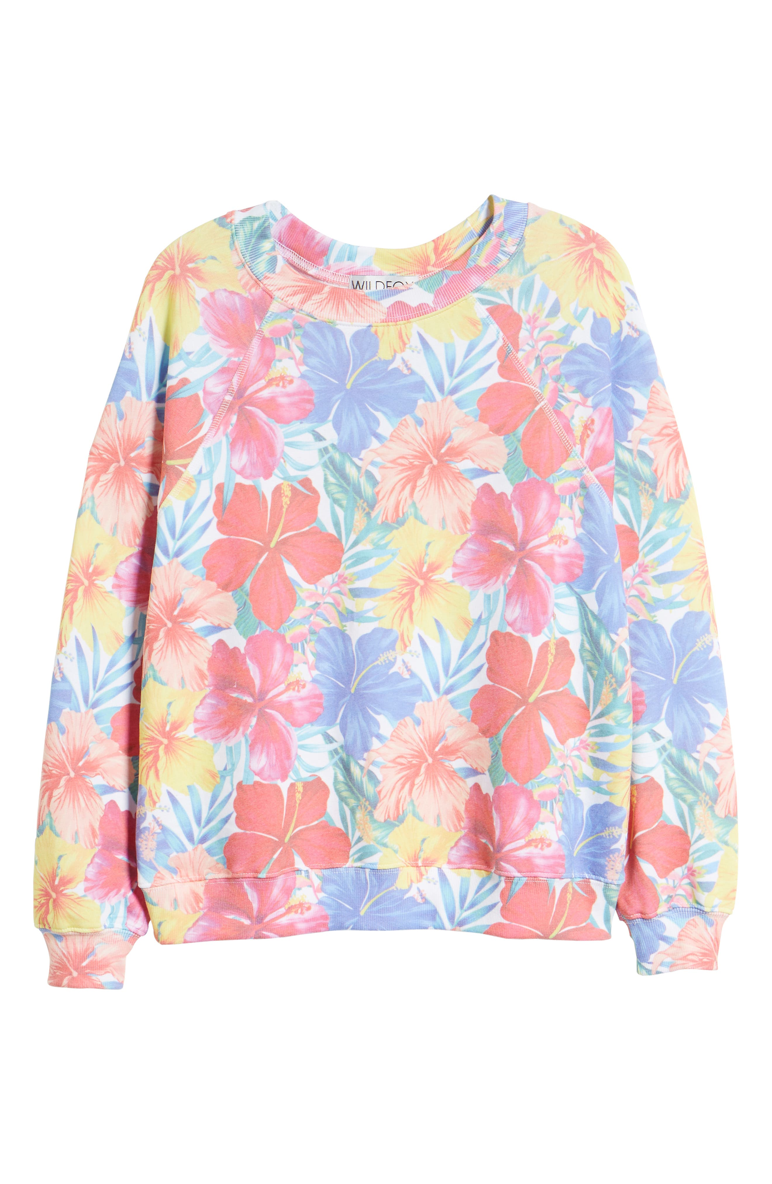 Tropicalia Sommers Sweatshirt,                             Alternate thumbnail 6, color,                             Multi Colored