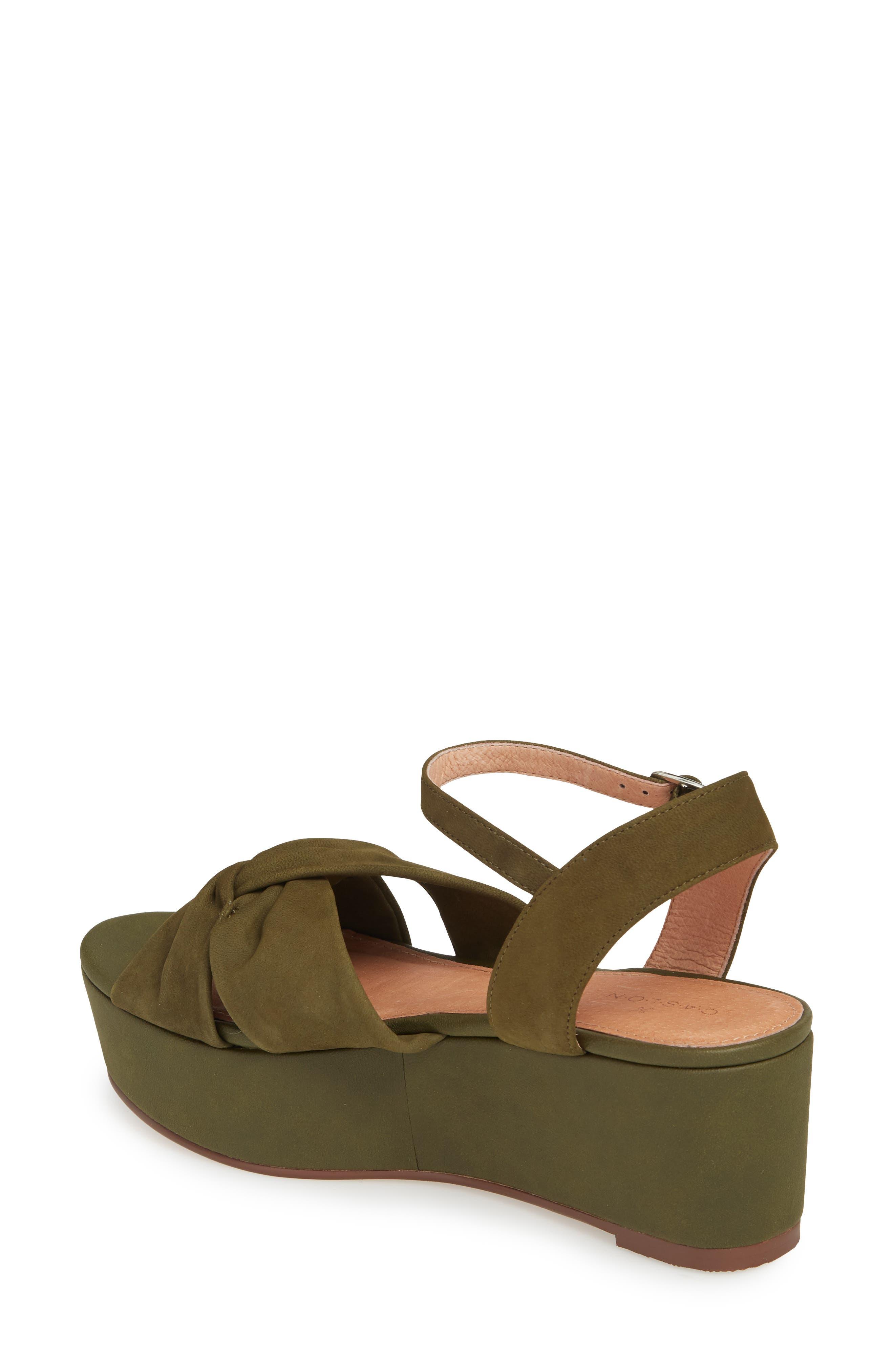 Ryder Platform Sandal,                             Alternate thumbnail 2, color,                             Olive Nubuck